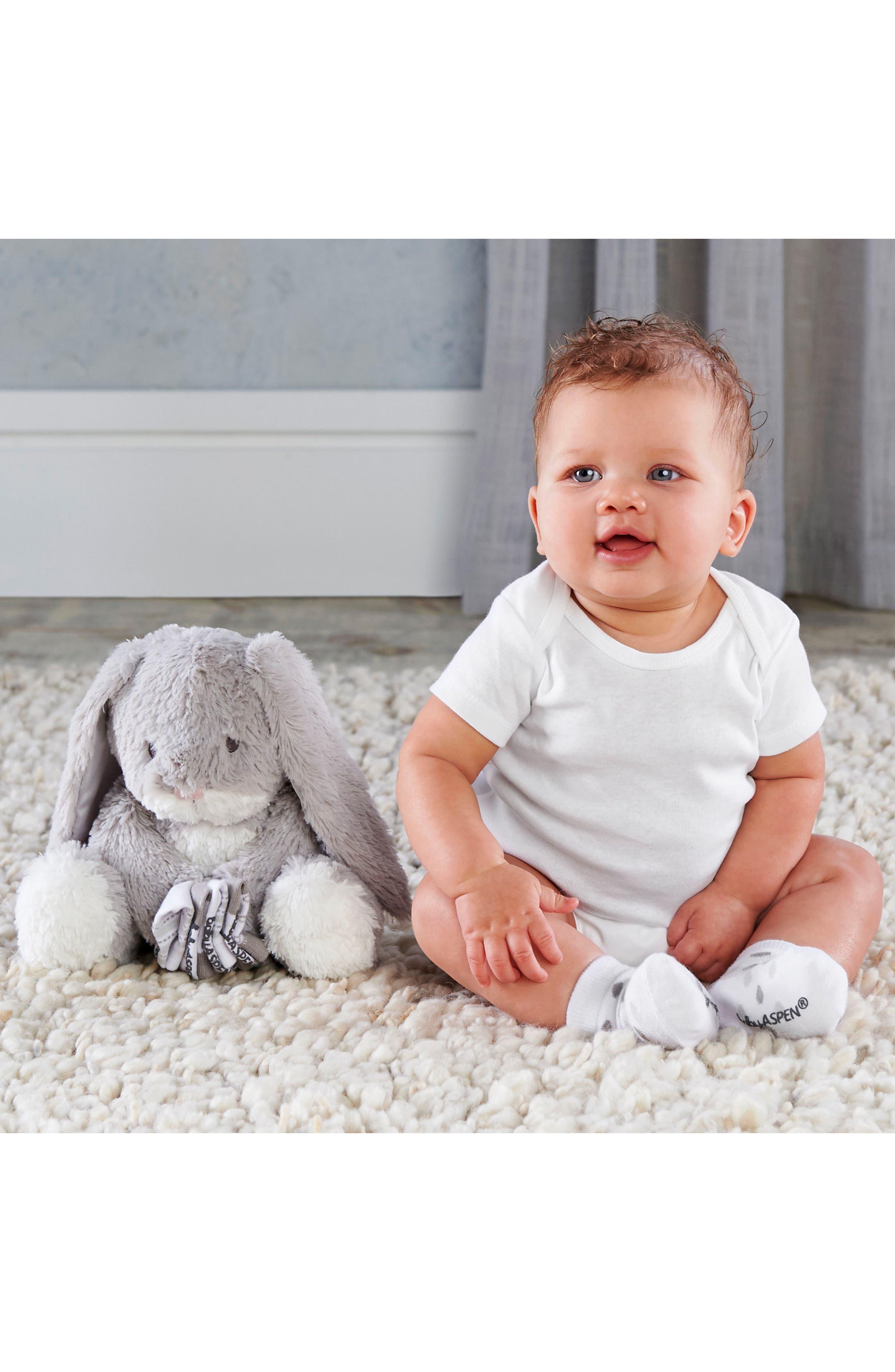 Alternate Image 3  - Baby Aspen Bunnie Hooded Robe & Stuffed Animal