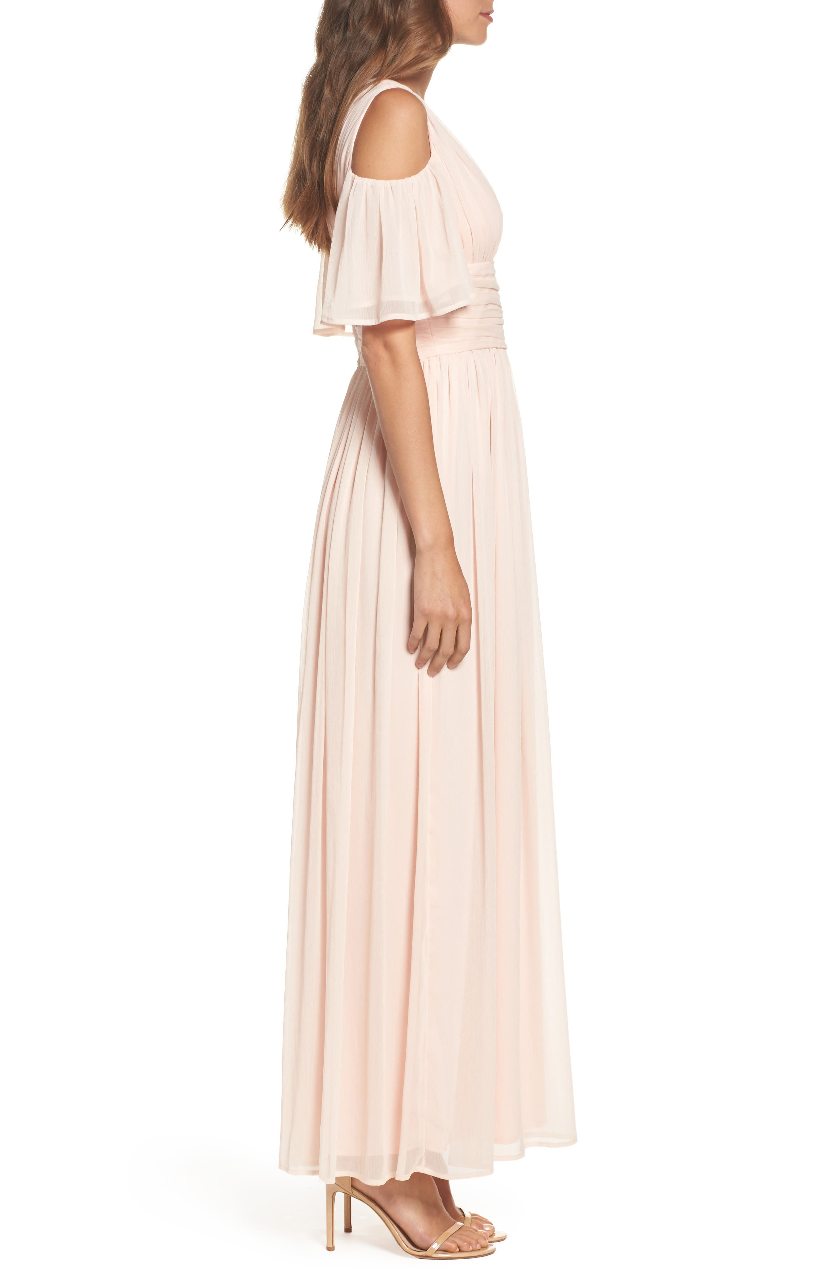 Alternate Image 3  - French Connection Constance Cold Shoulder Maxi Dress