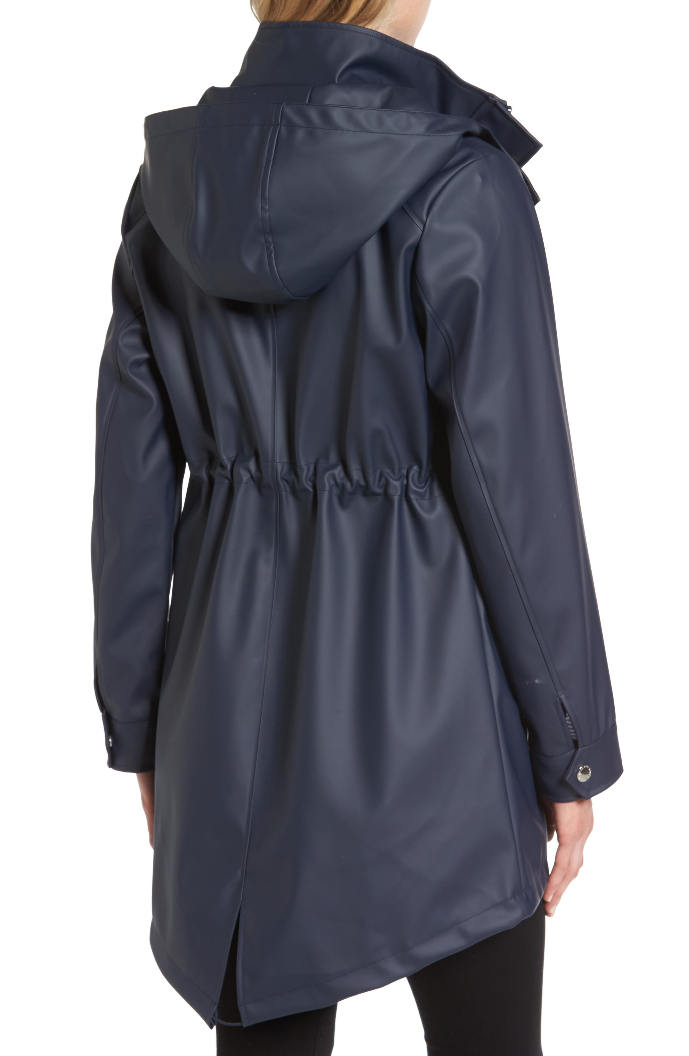 Alternate Image 2  - London Fog Hooded Rain Slicker