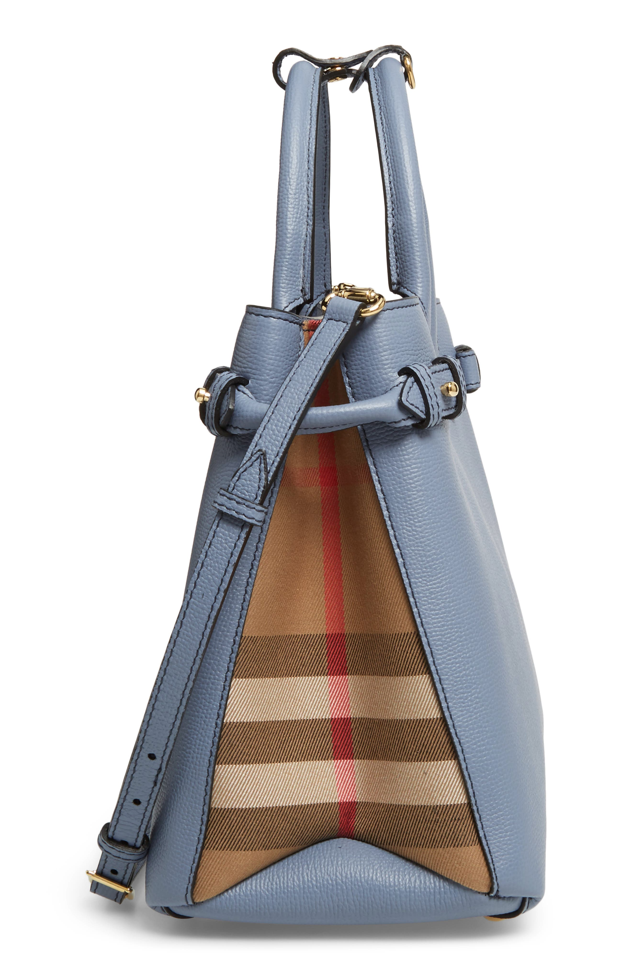 Alternate Image 5  - Burberry Medium Banner House Check Leather Tote
