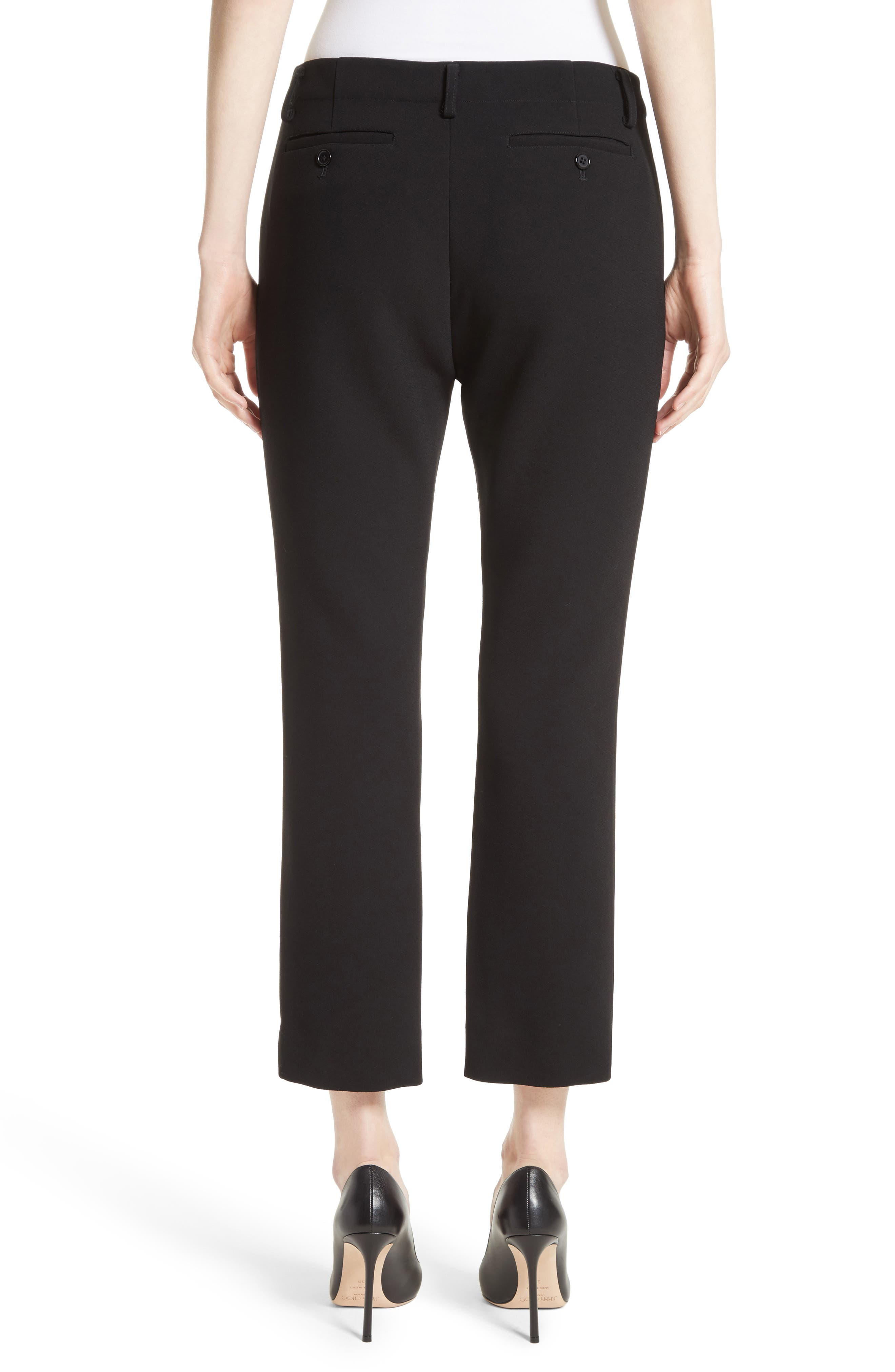 Crop Cigarette Pants,                             Alternate thumbnail 2, color,                             Black