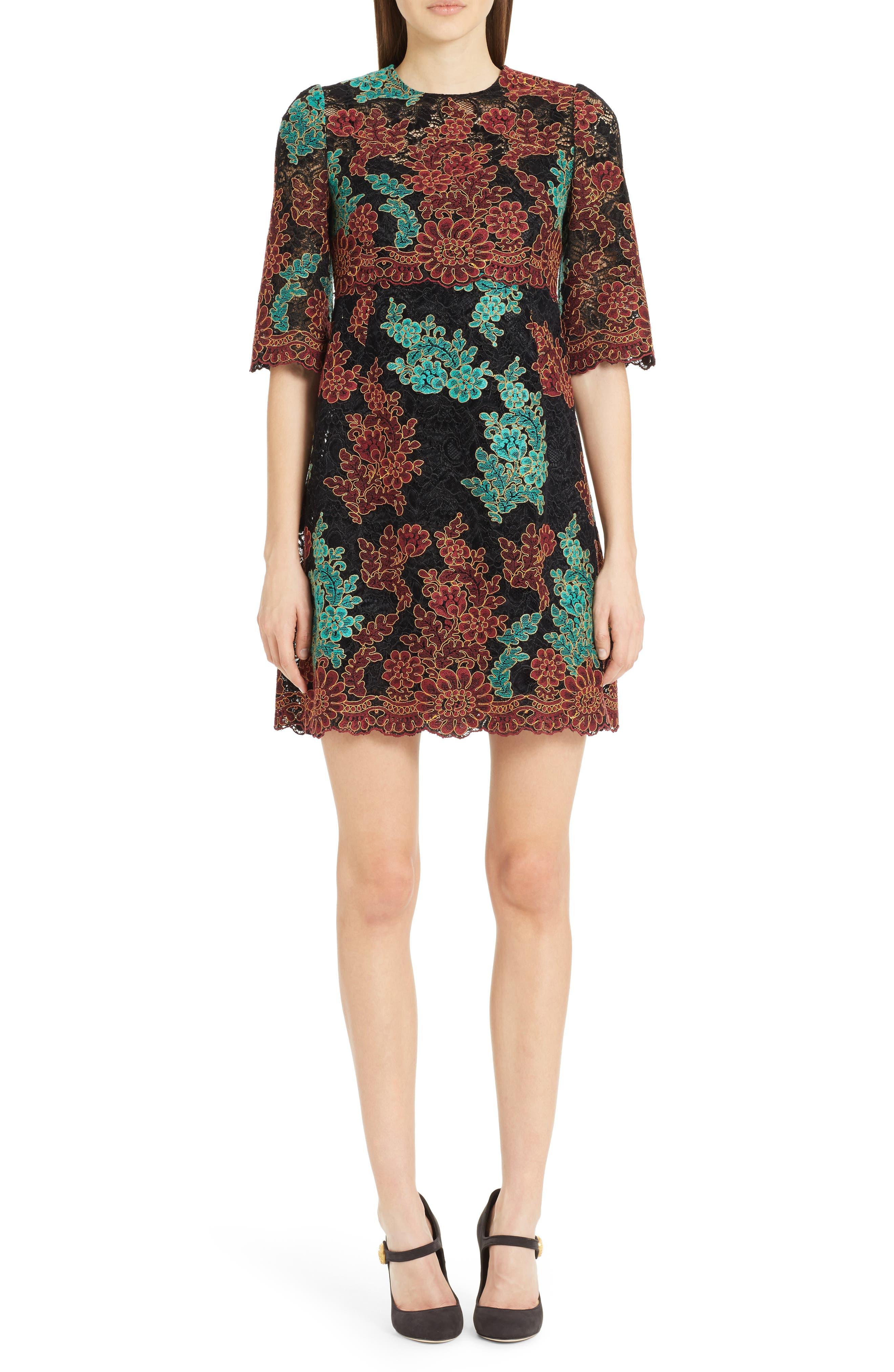 Lace Minidress,                         Main,                         color, Burgundy