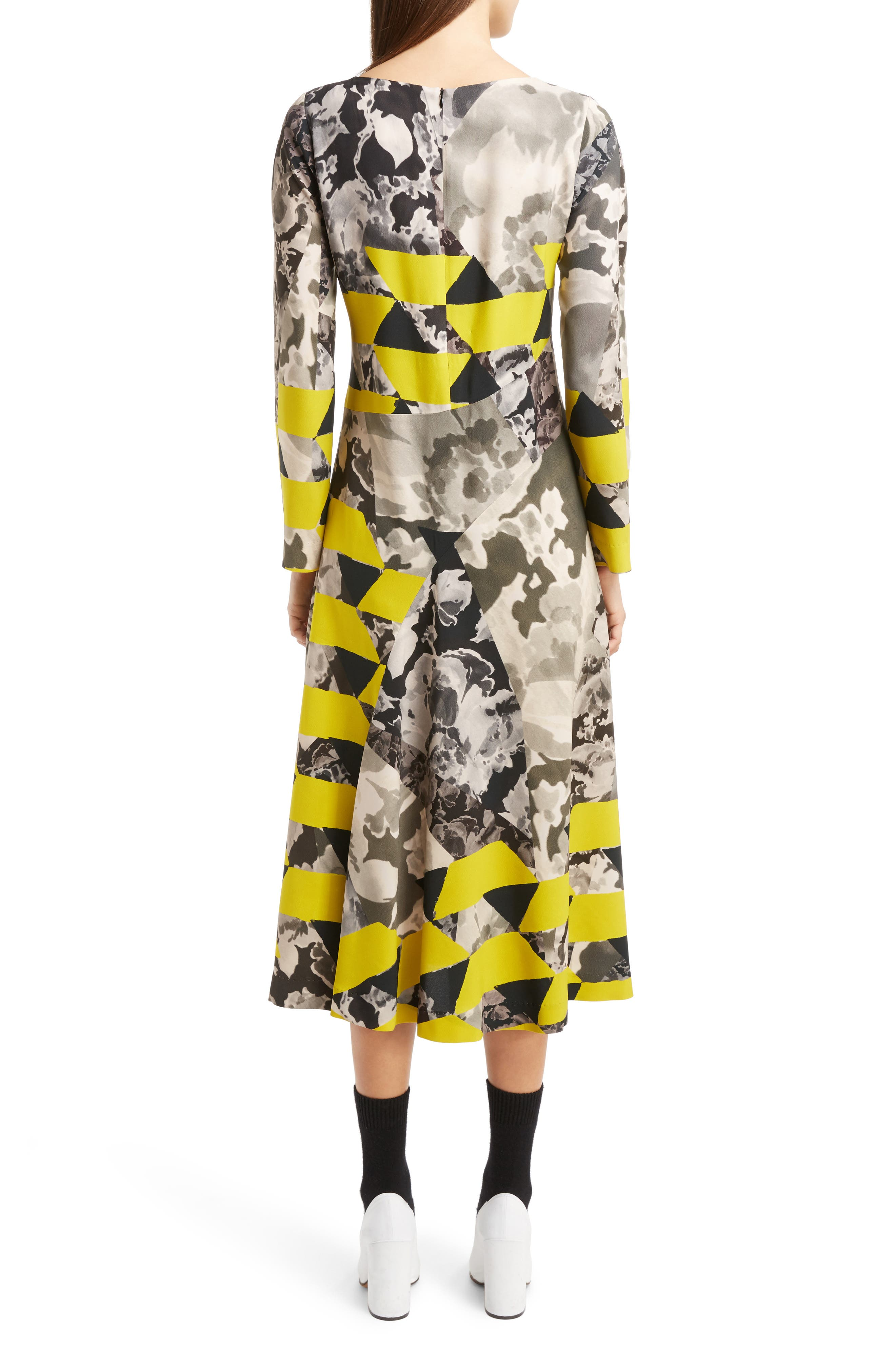 Alternate Image 2  - Dries Van Noten Mix Print Midi Dress