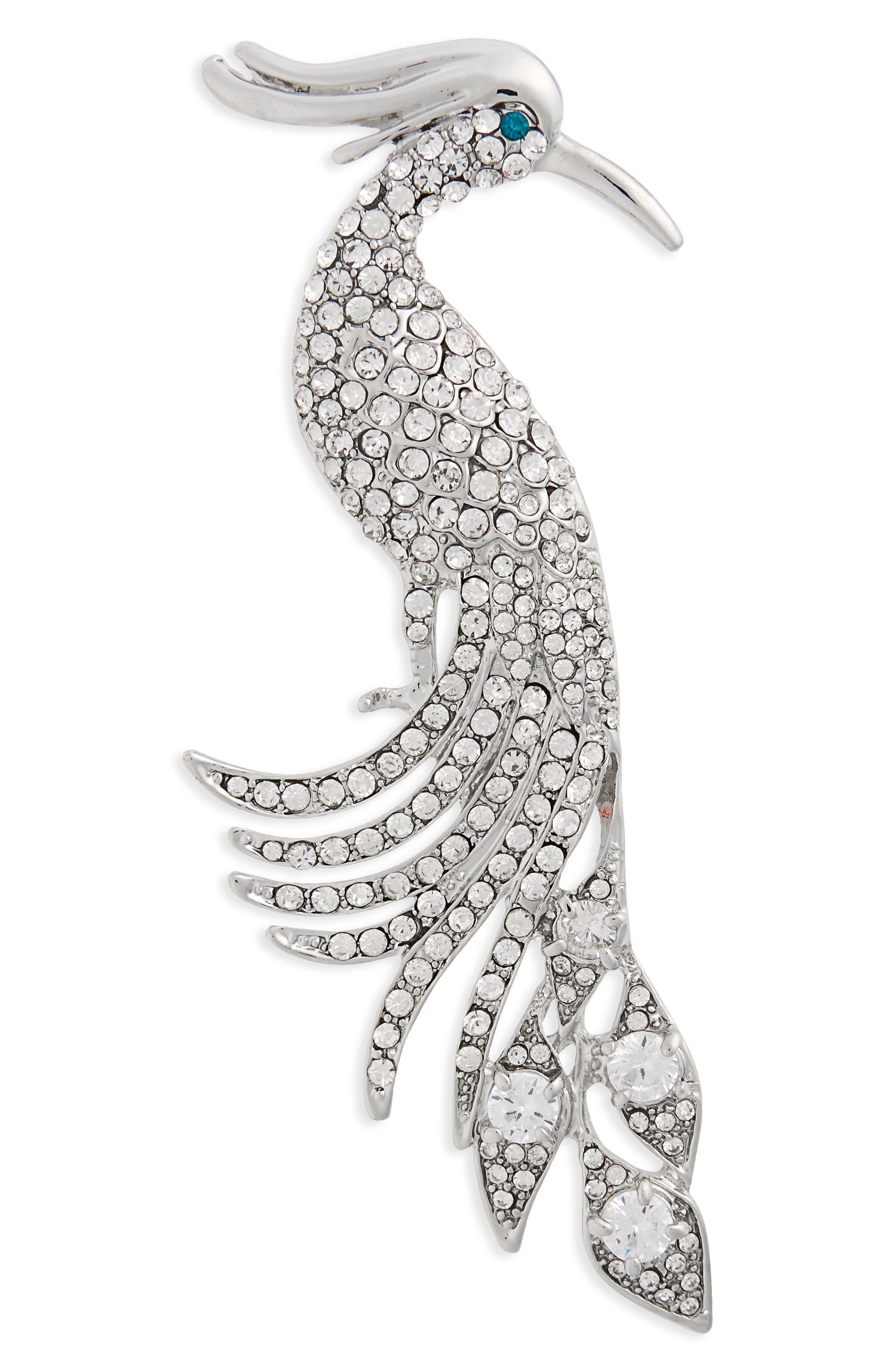 Alternate Image 1 Selected - Nina Peacock Crystal Brooch
