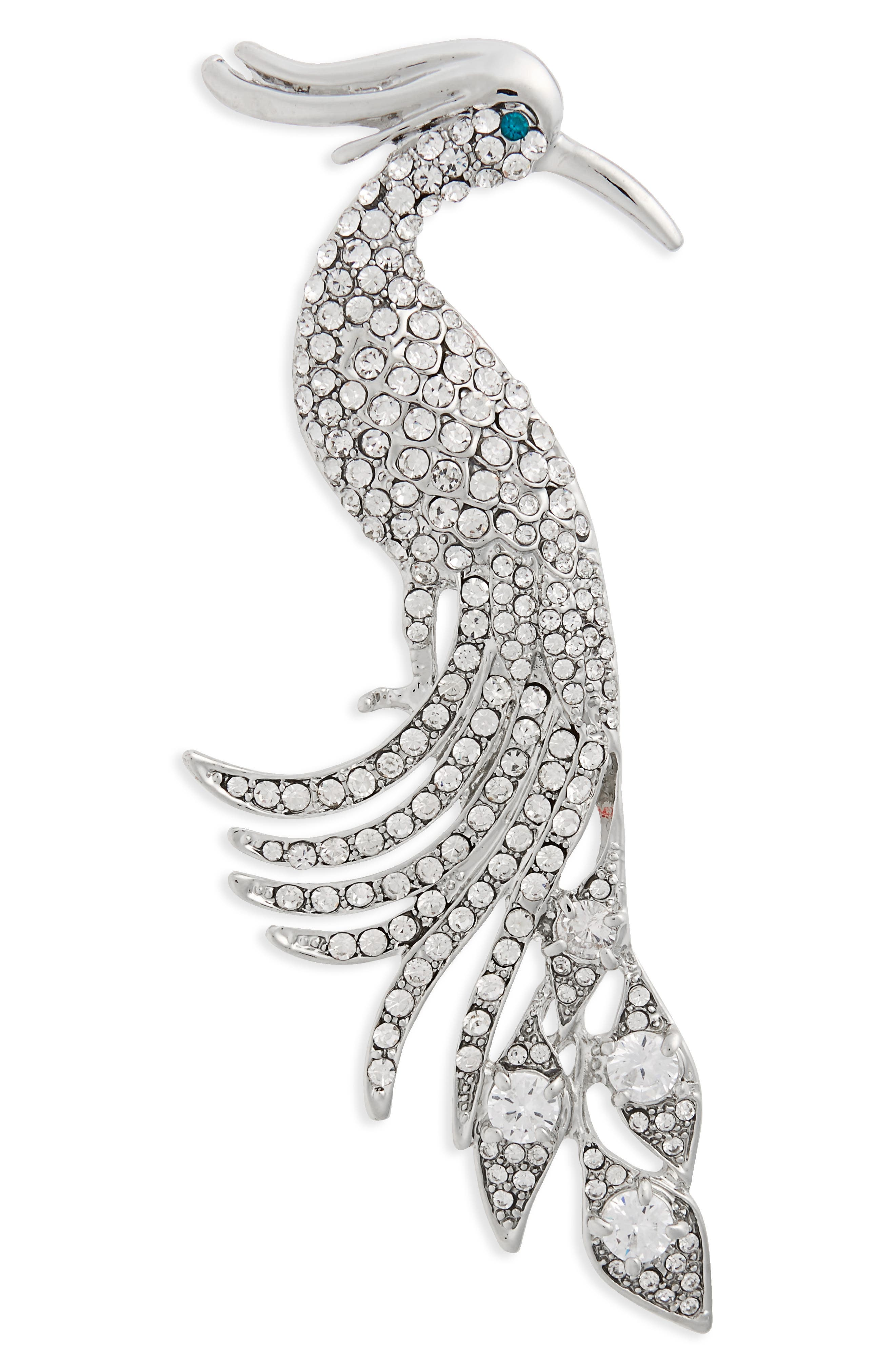 Main Image - Nina Peacock Crystal Brooch