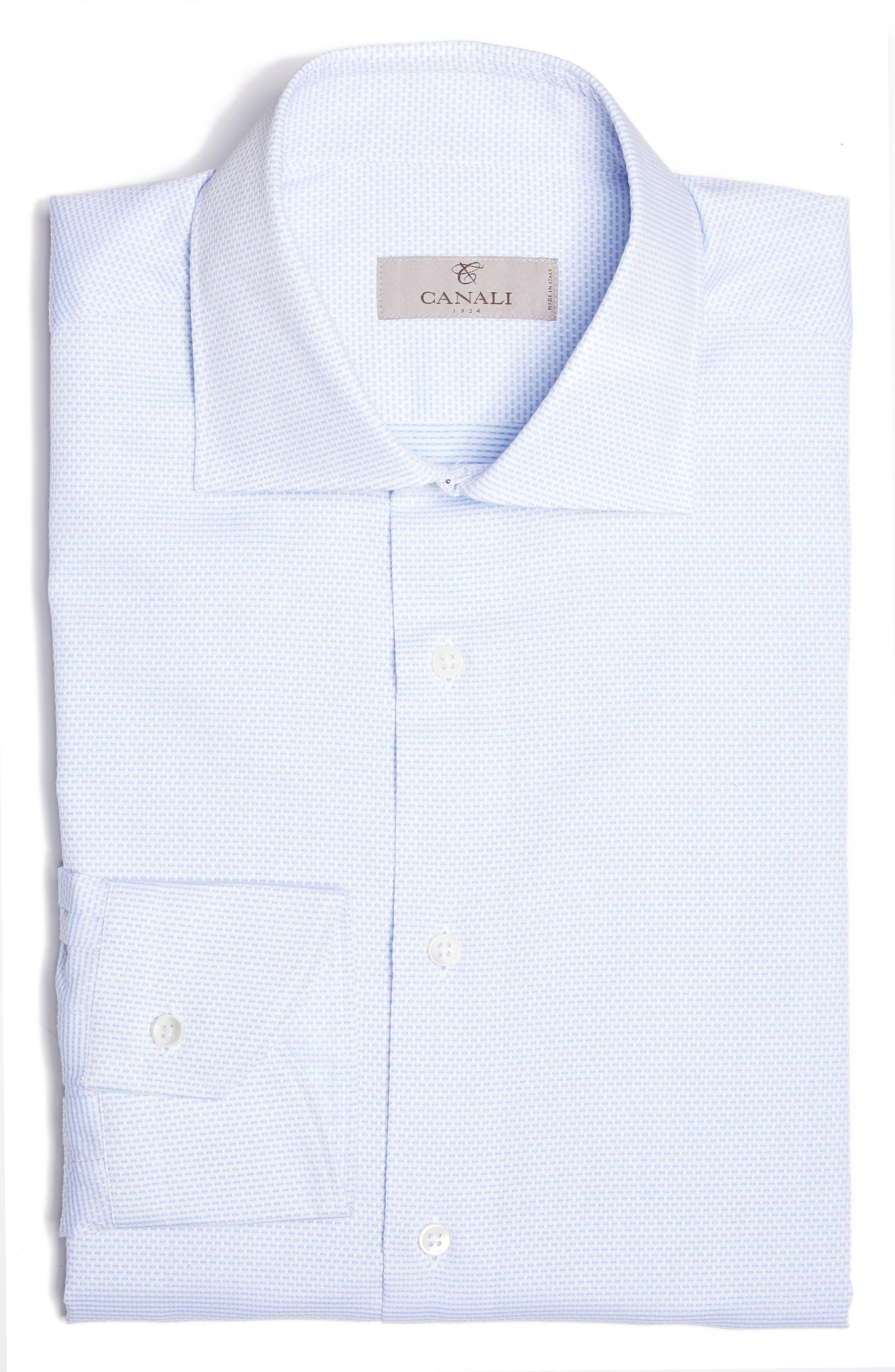 Regular Fit Solid Dress Shirt,                             Main thumbnail 1, color,                             Light Blue