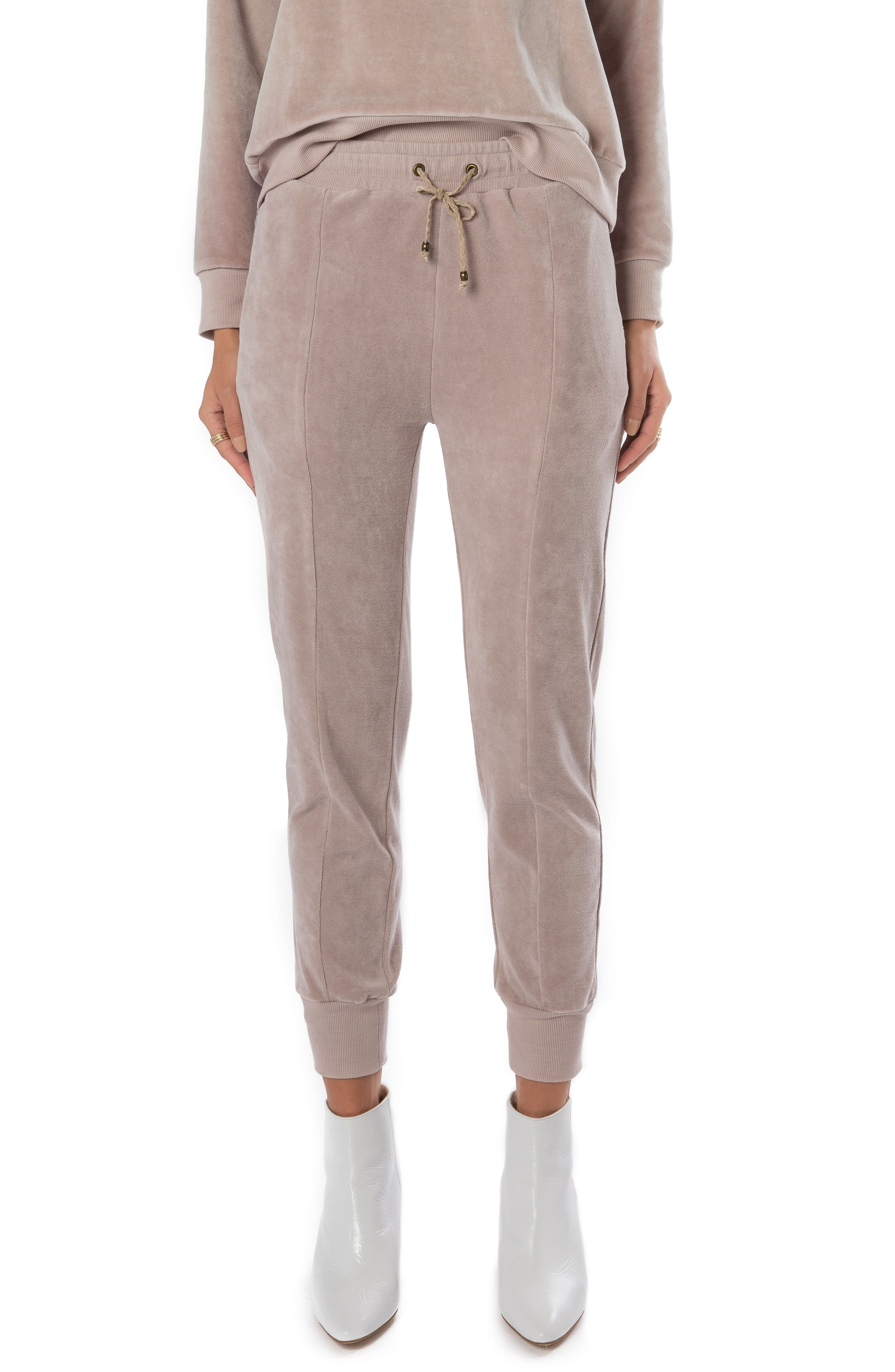 Ragdoll Velour High Waist Jogger Pants