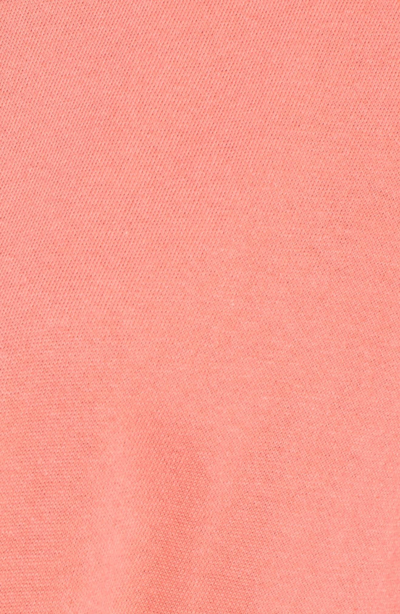 Alternate Image 5  - Caslon® Tie Front Cotton Blend Sweatshirt (Regular & Petite)