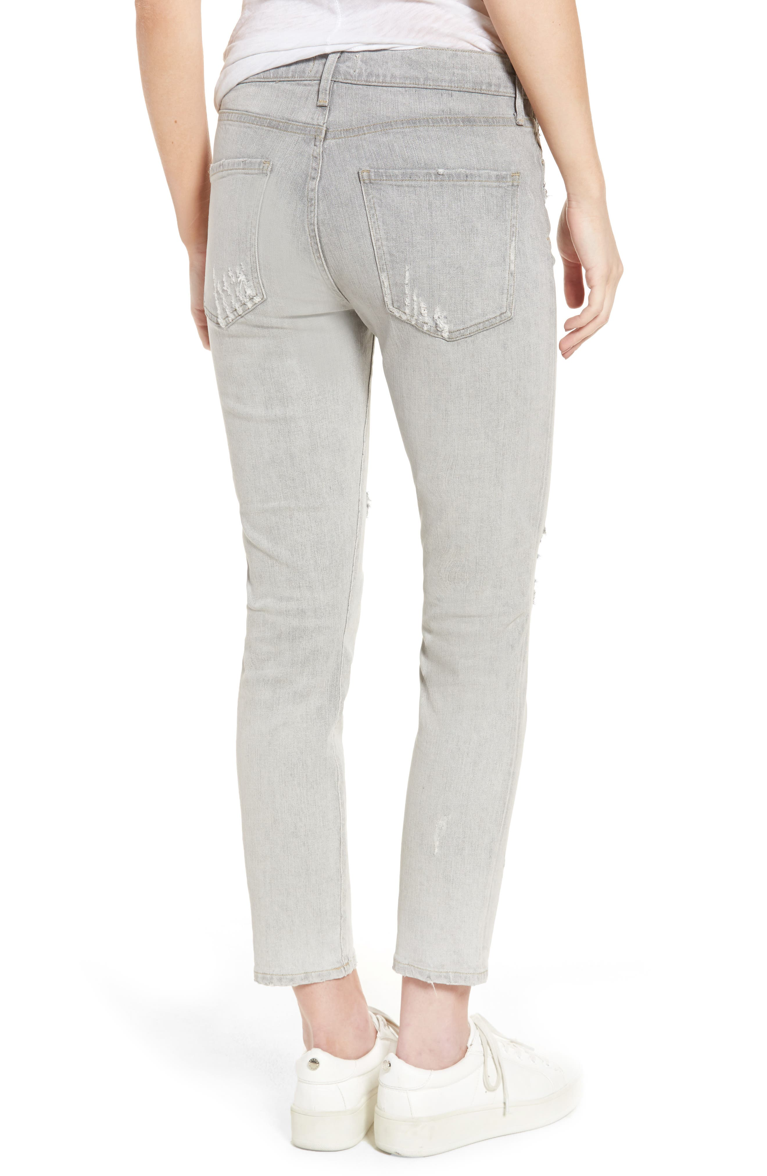 Sophie High Waist Skinny Jeans,                             Alternate thumbnail 2, color,                             Portland Destruct