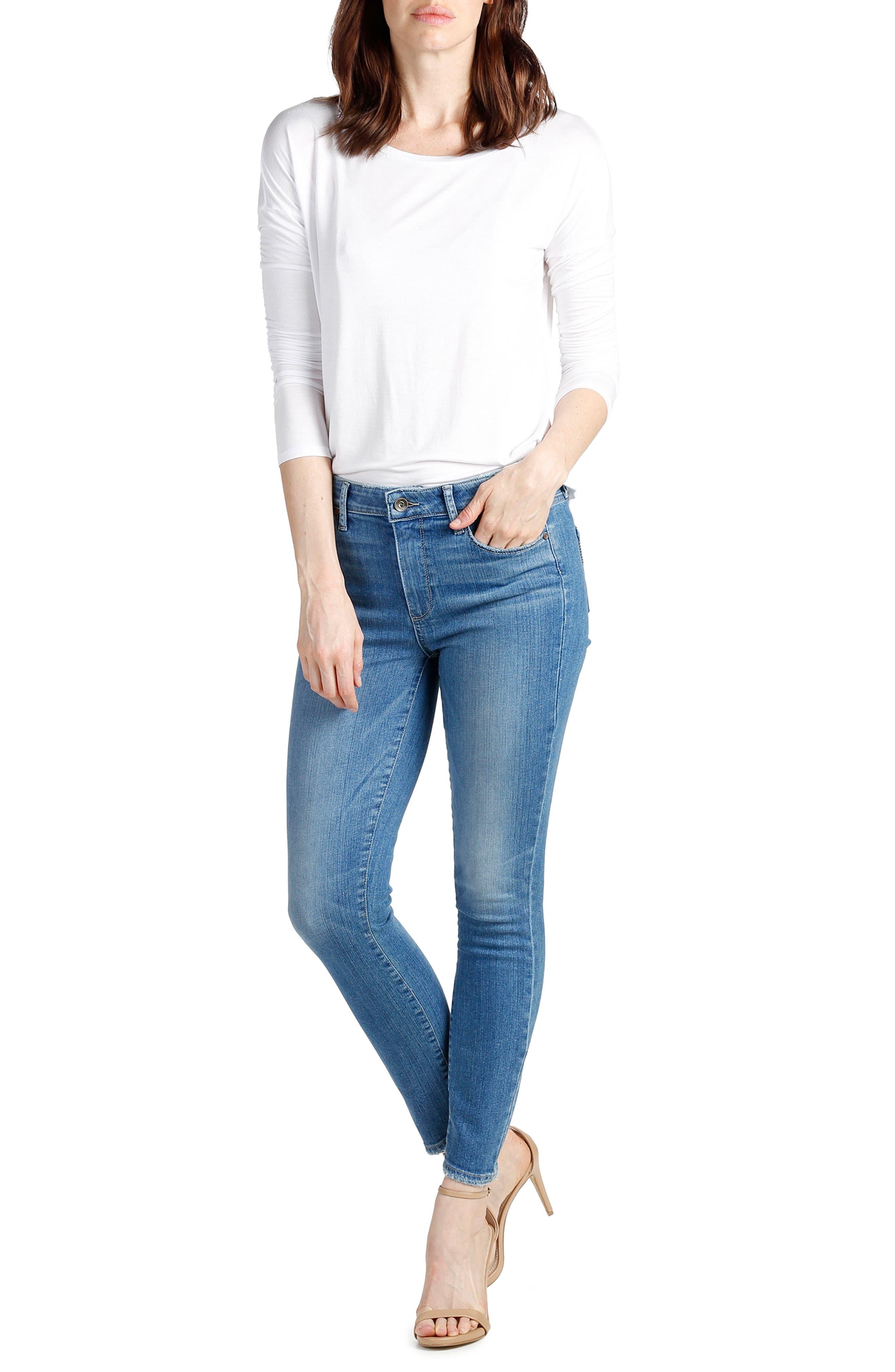Alternate Image 2  - PAIGE Hoxton High Waist Ankle Skinny Jeans (Evelina)