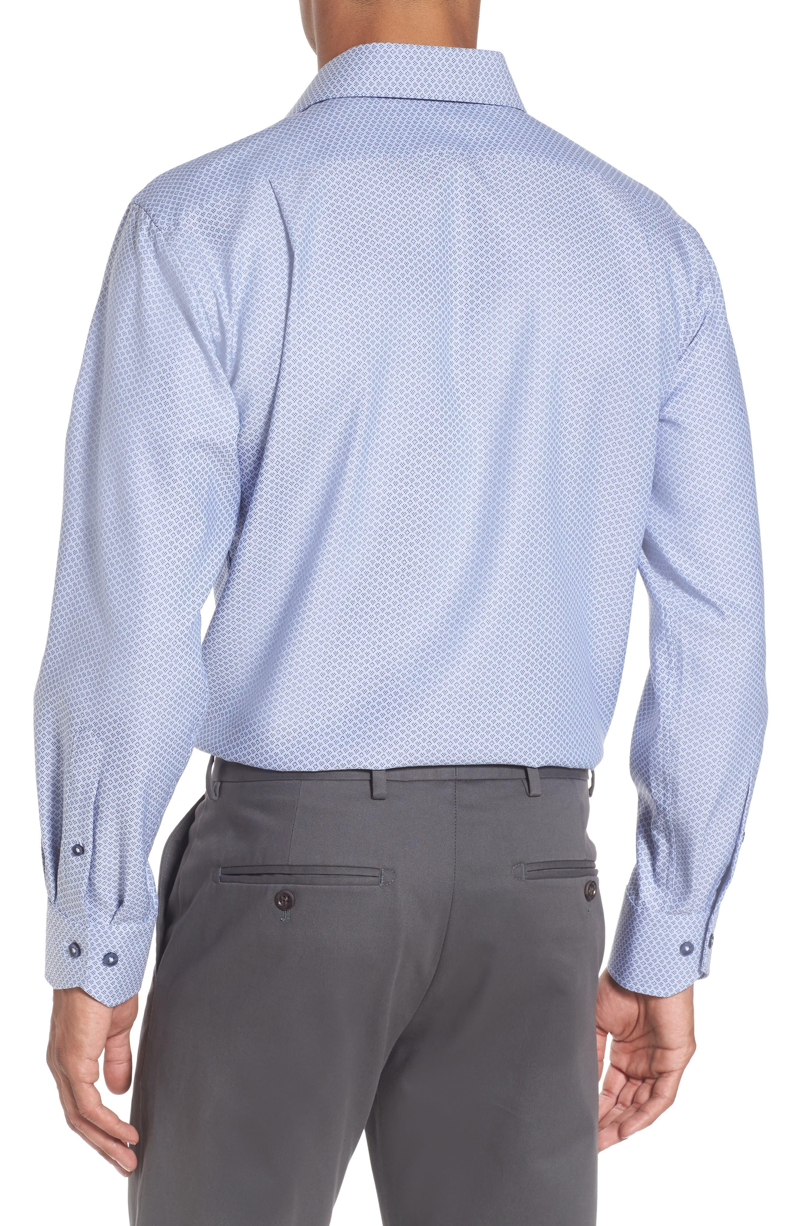 Alternate Image 2  - Lorenzo Uomo Trim Fit Geometric Dress Shirt