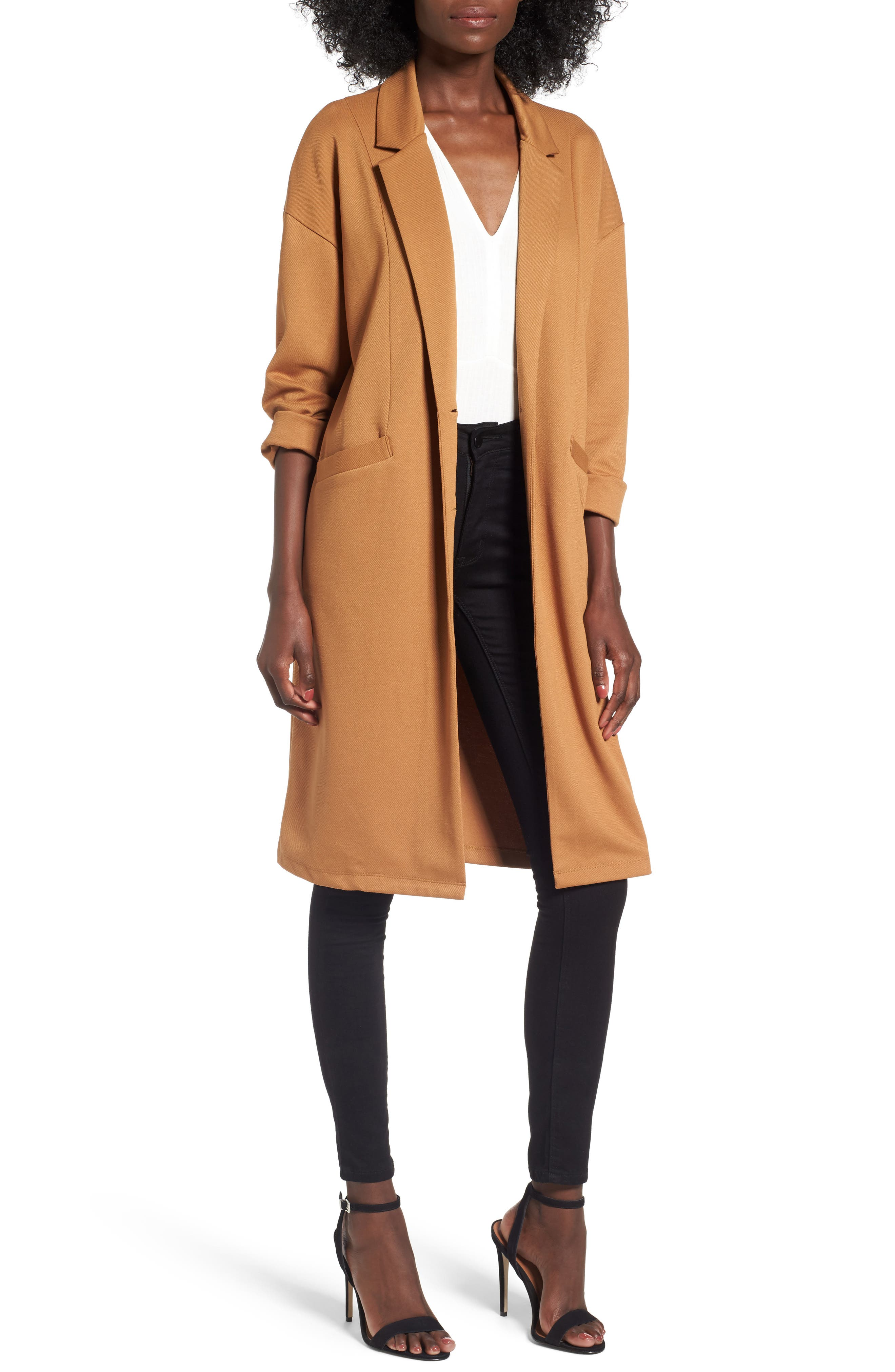 Longline Jacket,                         Main,                         color, Tan Dale
