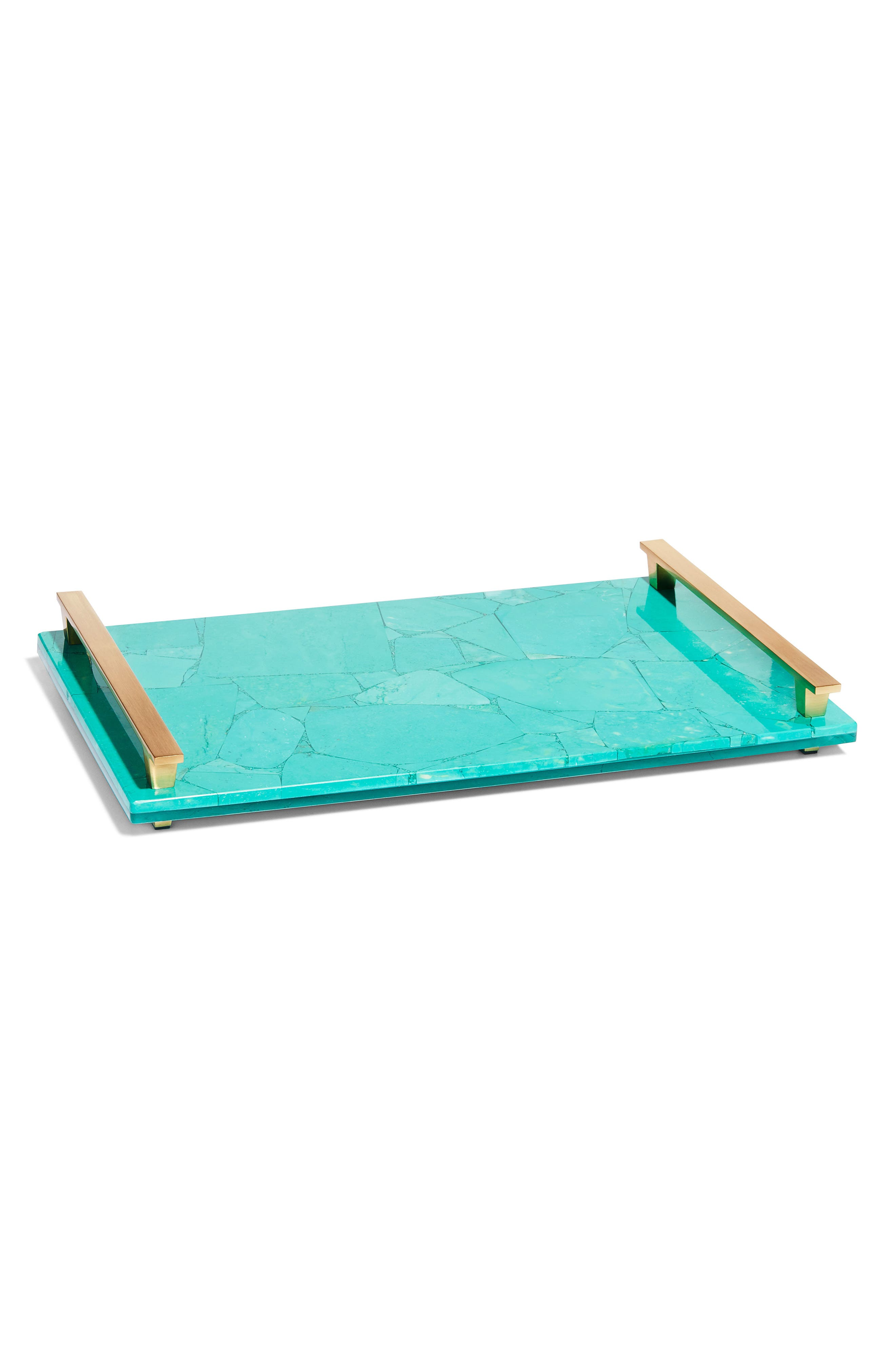 Stone Slab Tray,                         Main,                         color, Variegated Teal