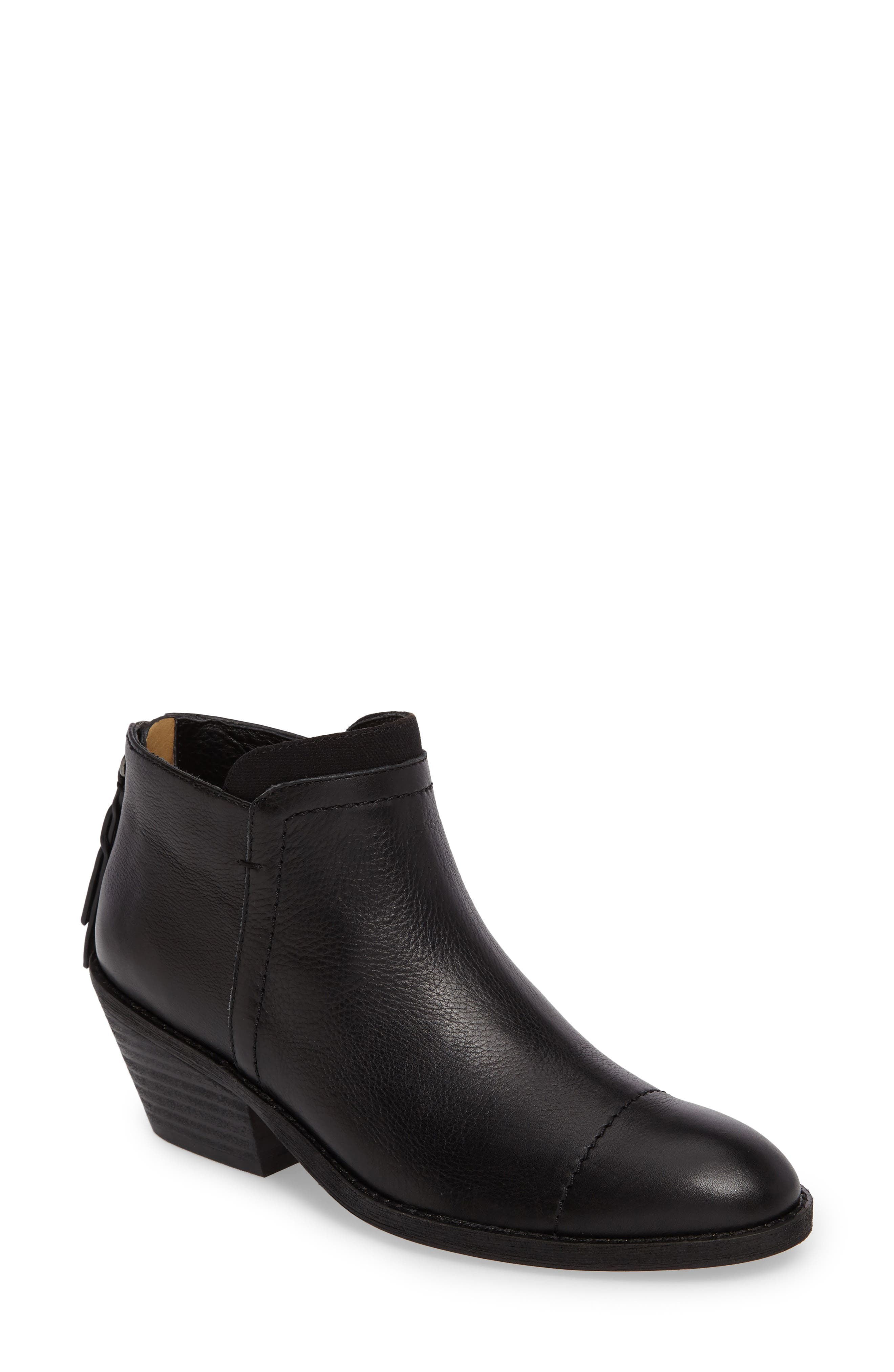Dale II Bootie,                         Main,                         color, Black Leather