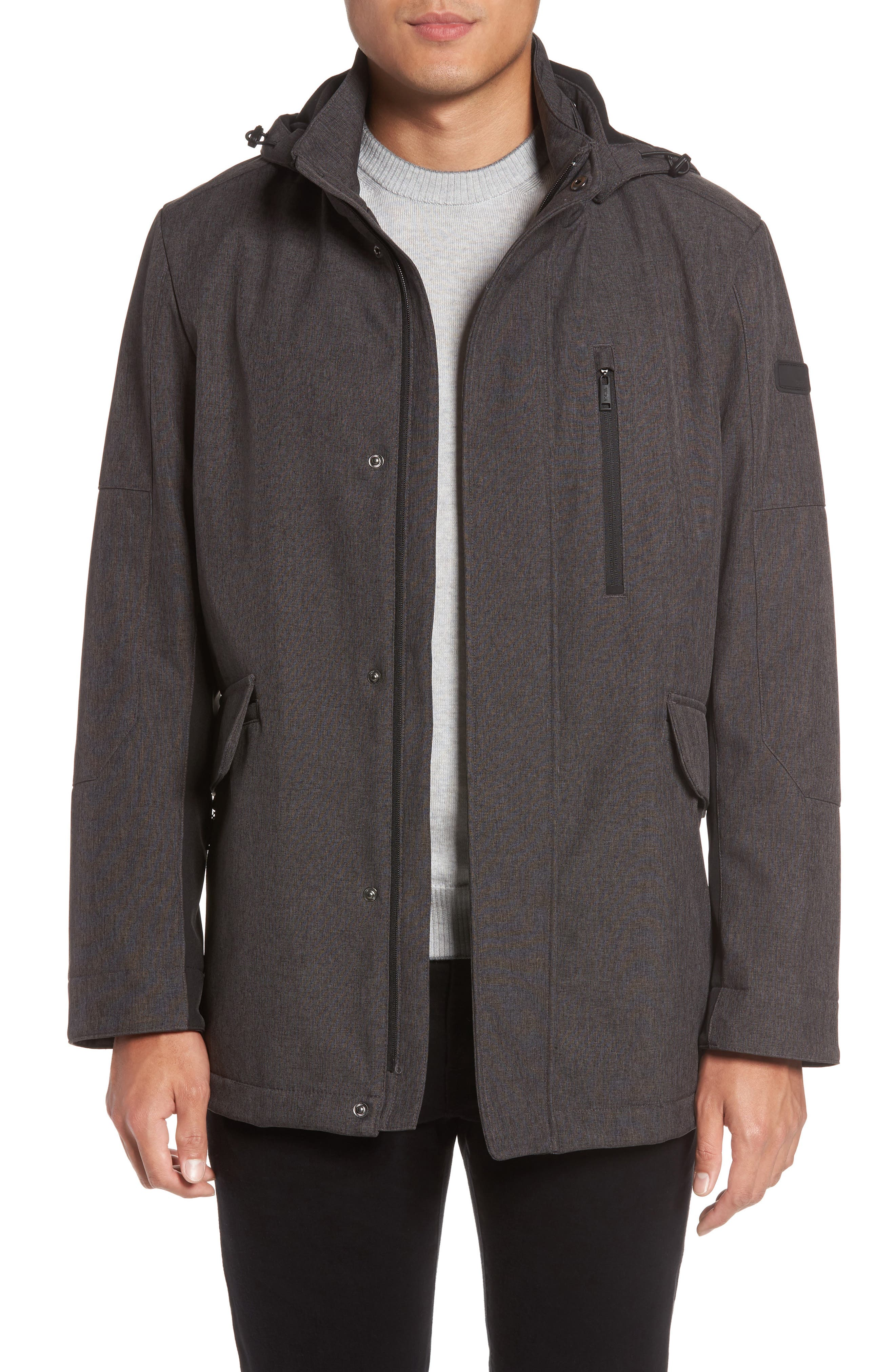 Main Image - Tumi Understated Commuter Water-Resistant Jacket with Removable Hood