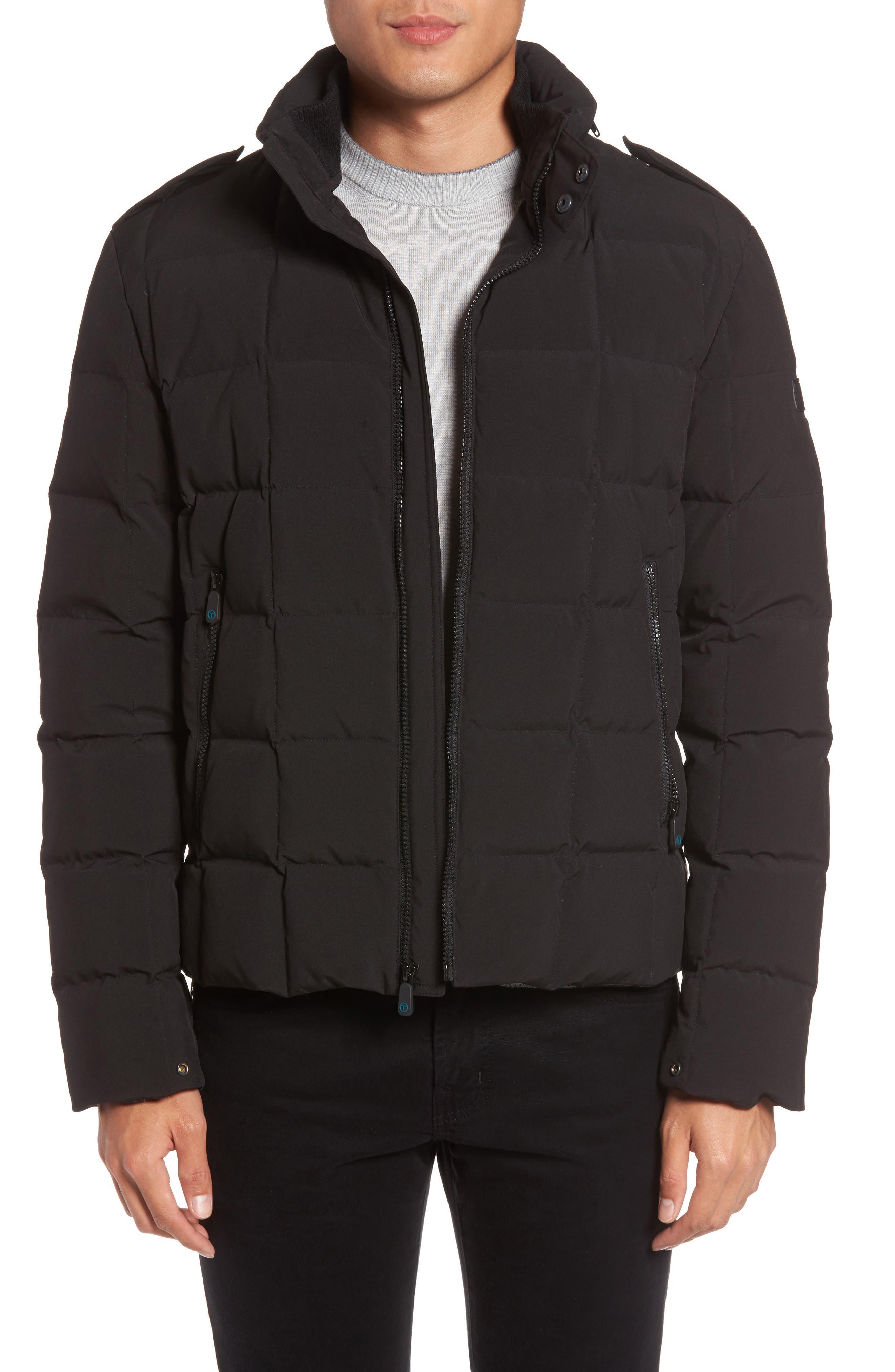 Box Quilted Jacket,                             Main thumbnail 1, color,                             Black