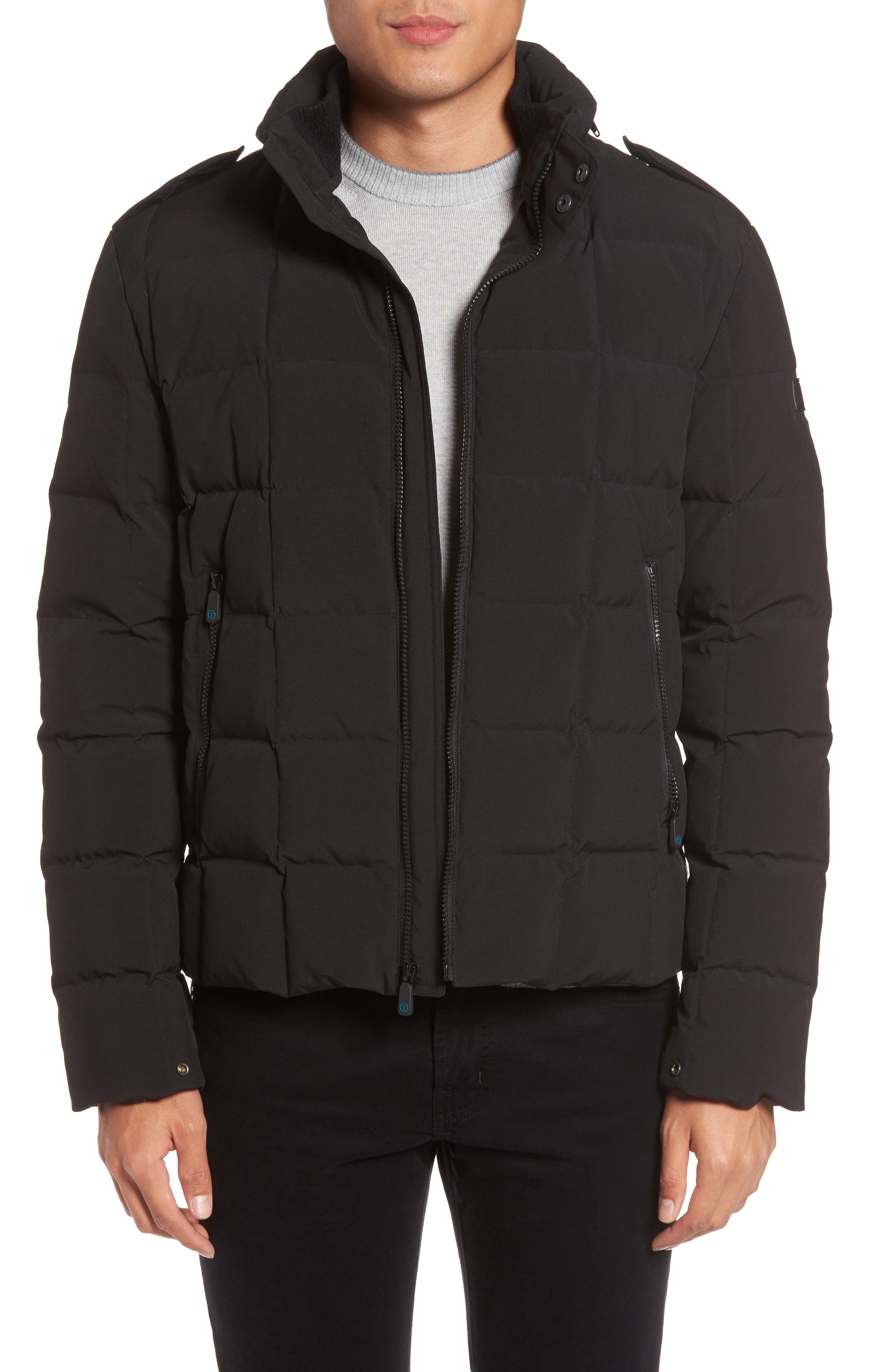 Box Quilted Jacket,                         Main,                         color, Black