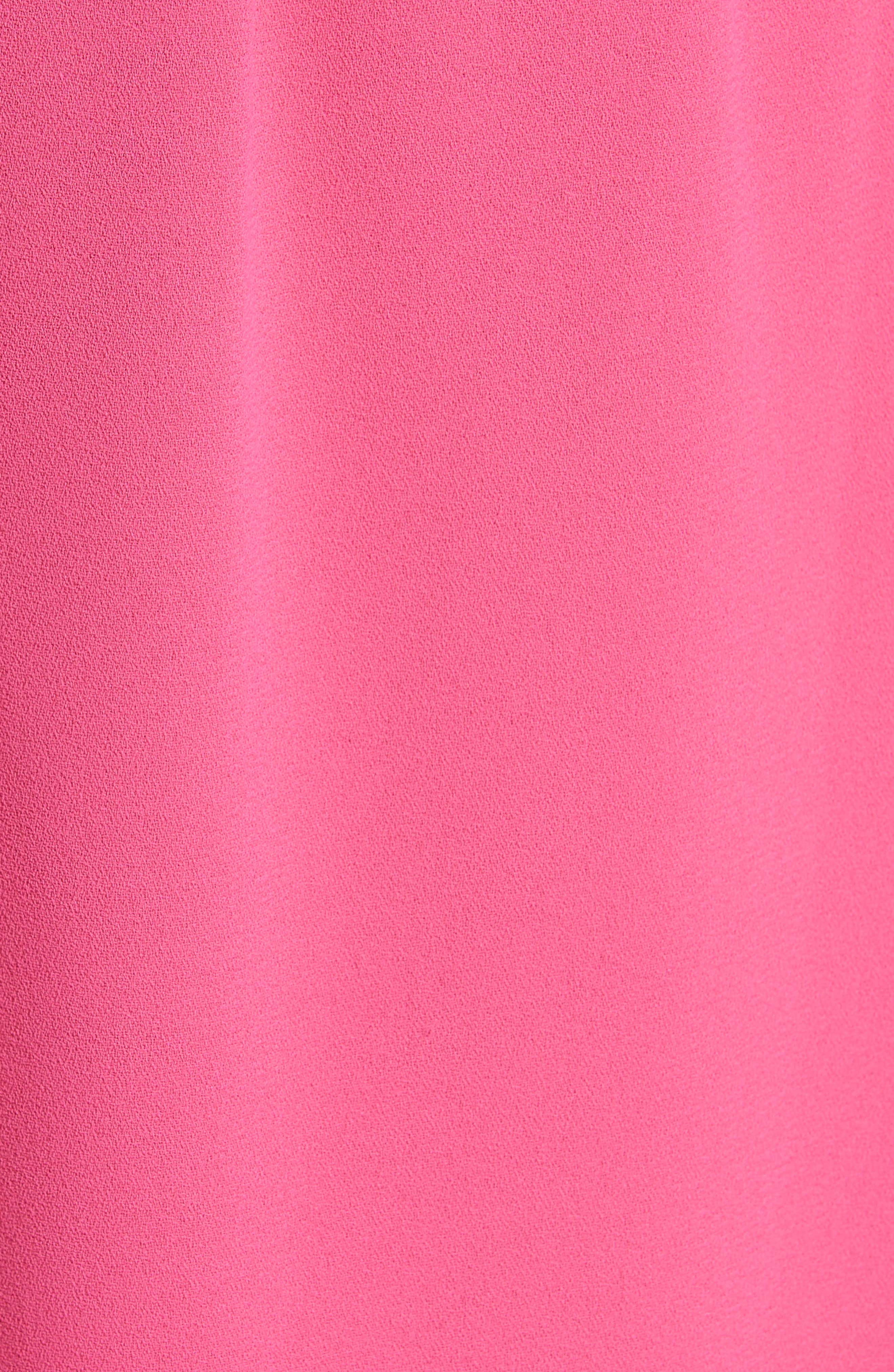 Shavon High Waist Side Slit Flare Pants,                             Alternate thumbnail 5, color,                             Fuchsia