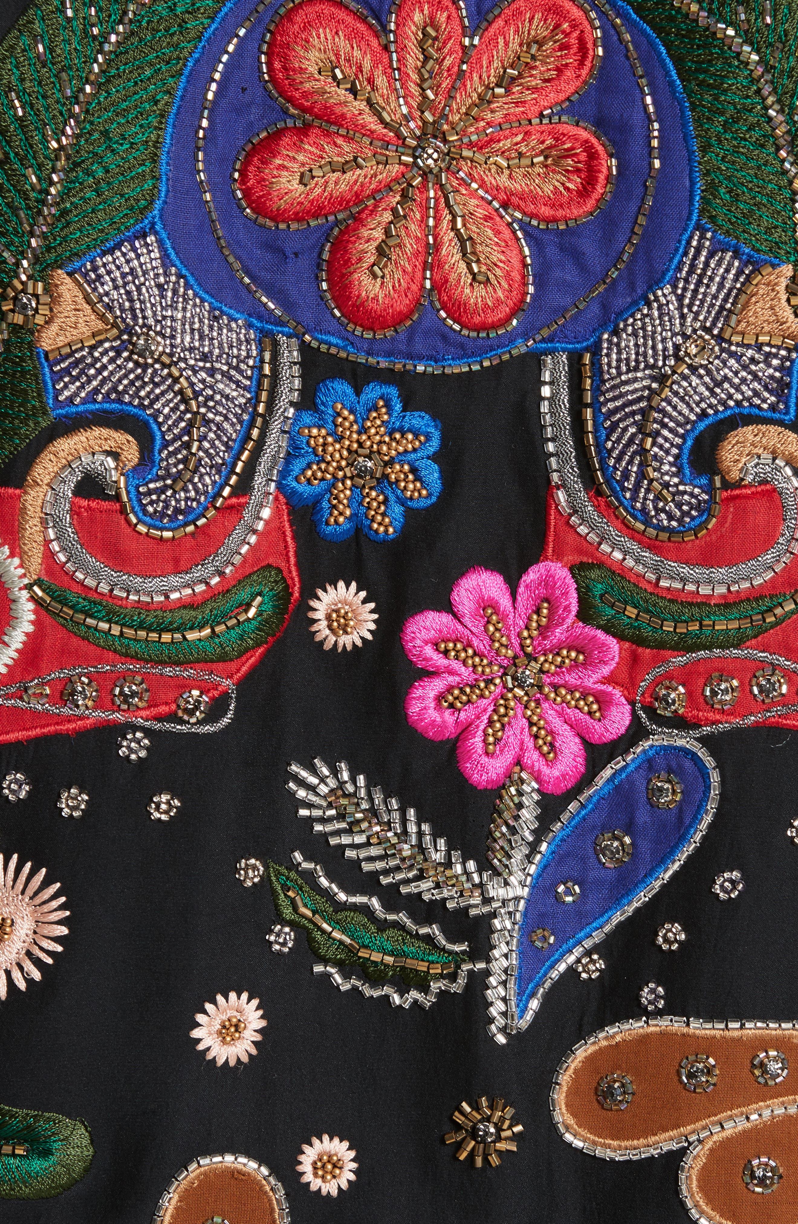 Alternate Image 5  - Alice + Olivia Felisa Embellished Silk Bomber Jacket