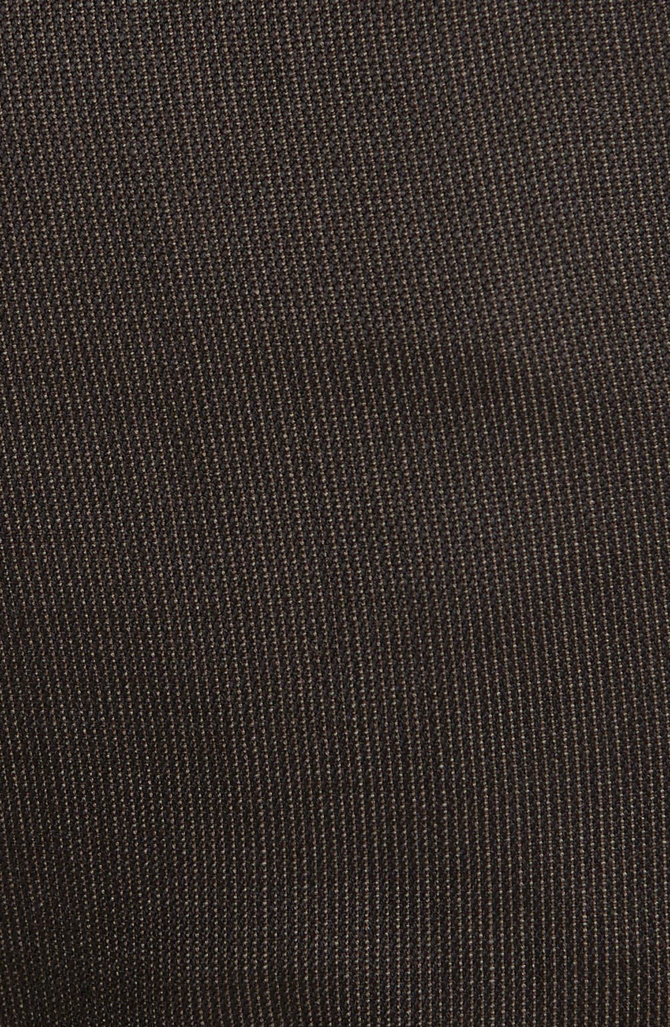 Alternate Image 5  - Canali Flat Front Stripe Wool Trousers