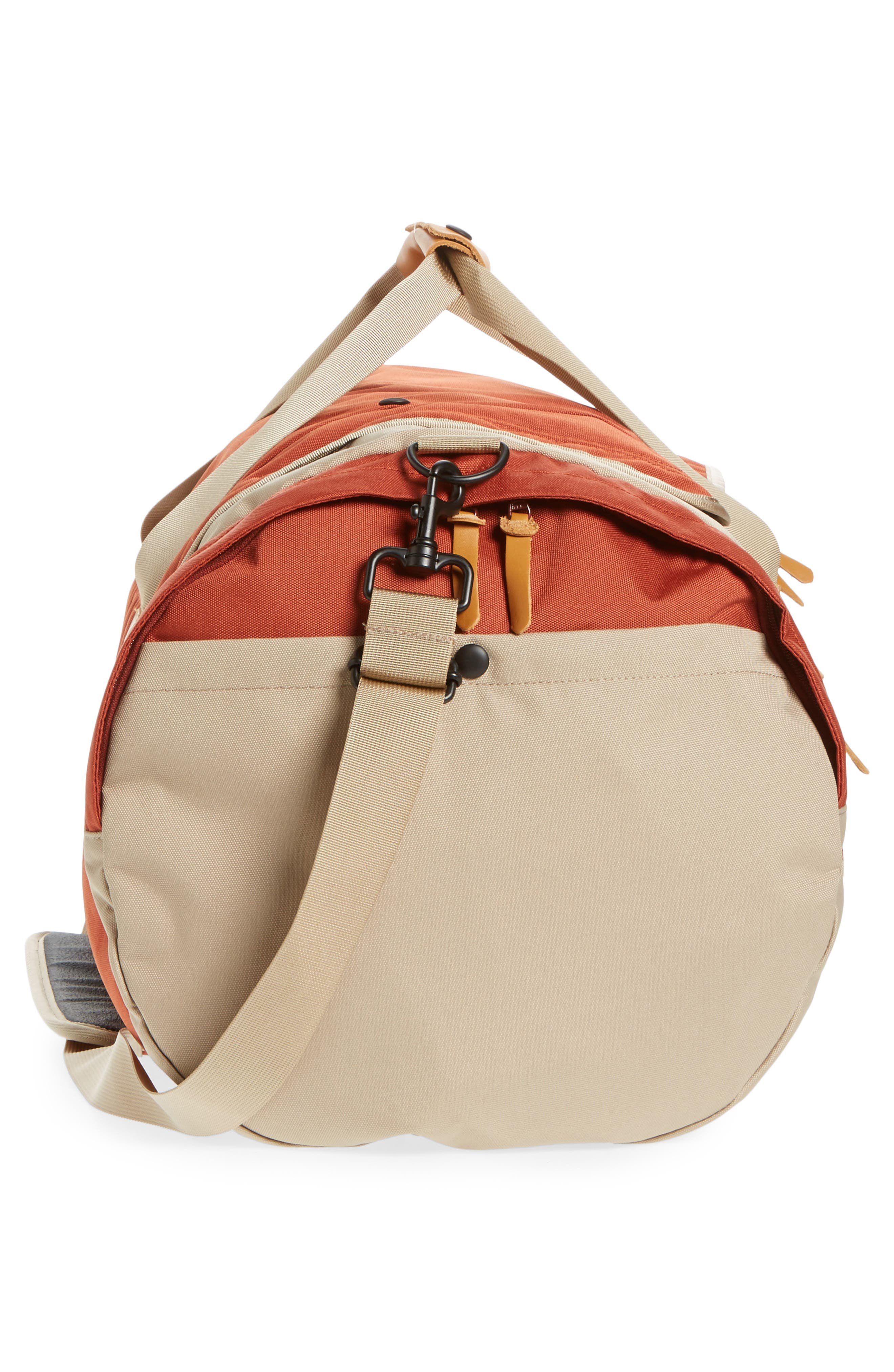 Arc Duffel Bag,                             Alternate thumbnail 5, color,                             Rust/ Tan