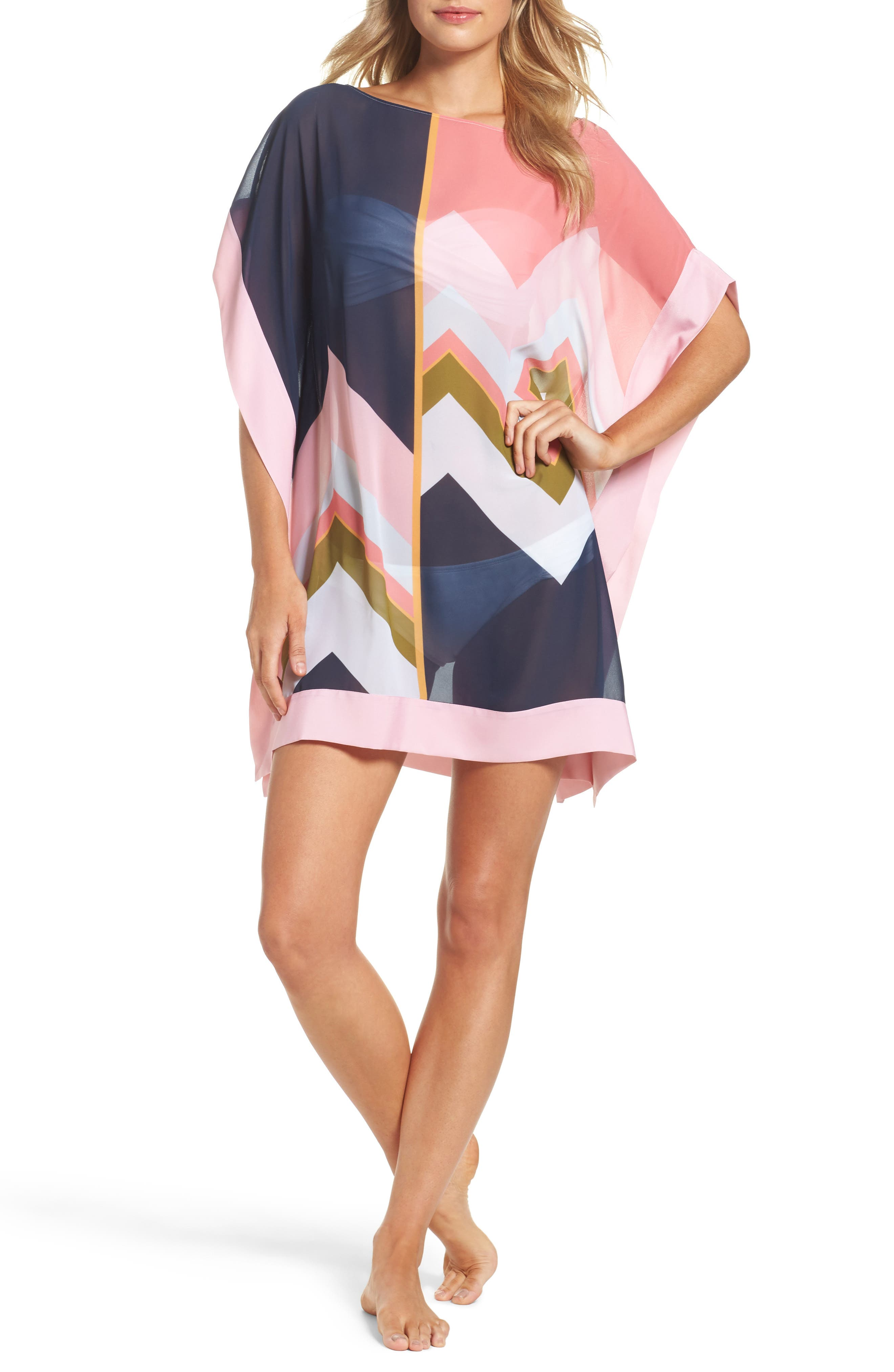 Ted Baker Mississippi Print Cover-Up Dress,                             Main thumbnail 1, color,                             Mid Blue