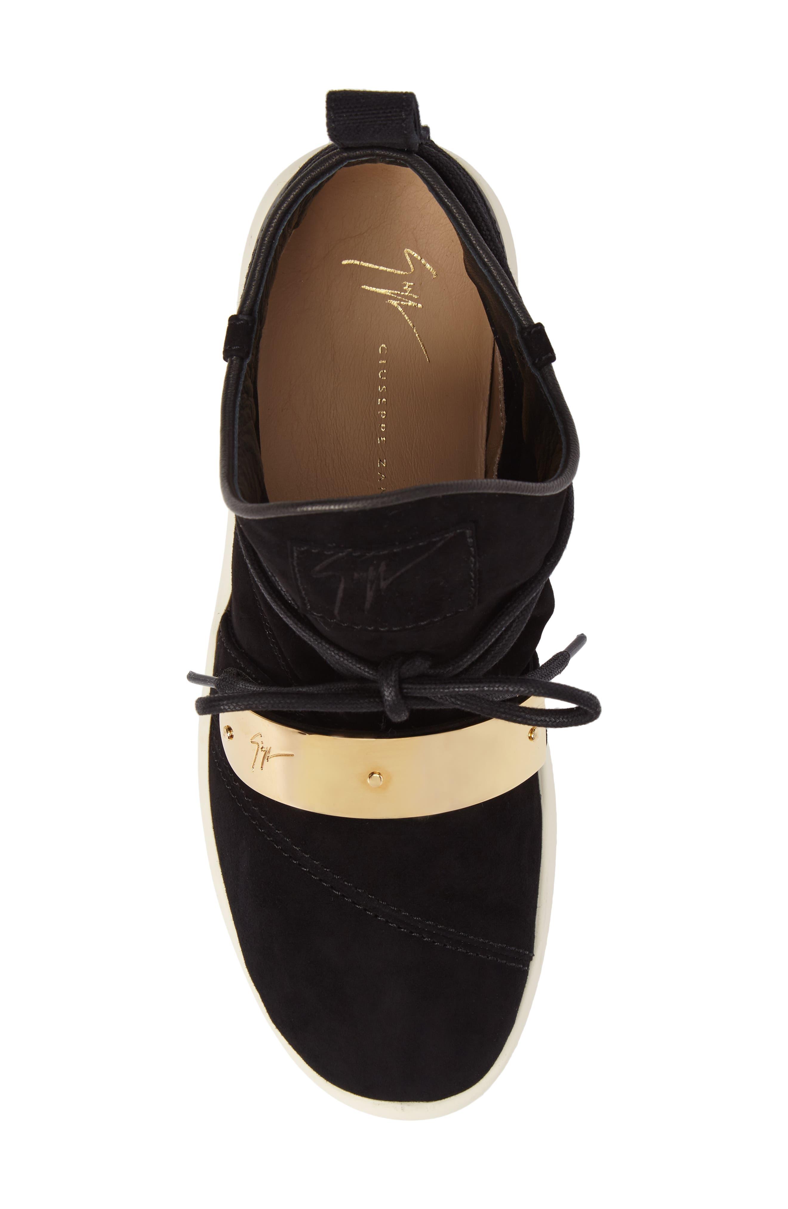 Gold Band Sneaker,                             Alternate thumbnail 5, color,                             Black