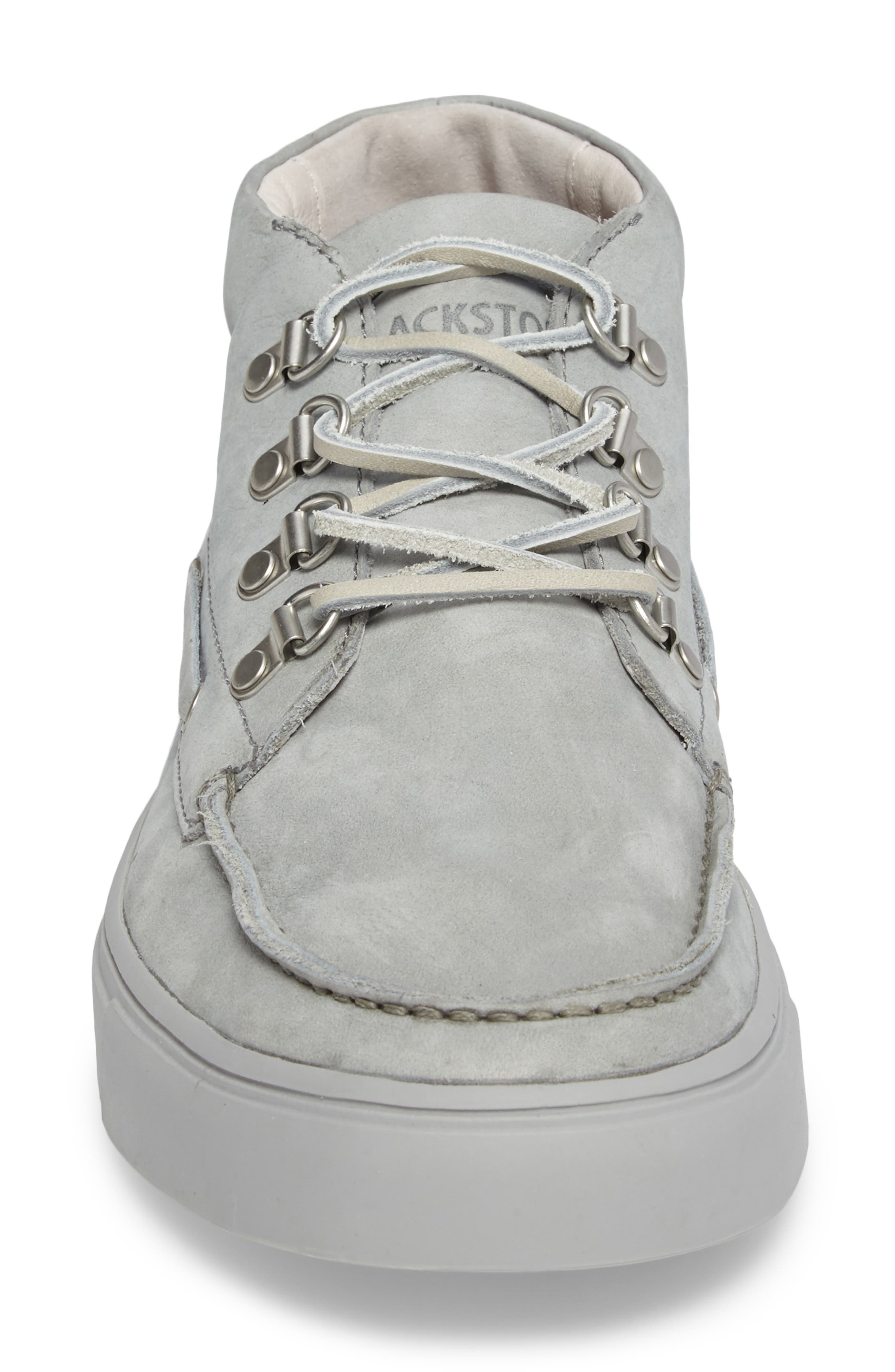 NM09 Mid Top Boat Sneaker,                             Alternate thumbnail 4, color,                             Limestone Leather