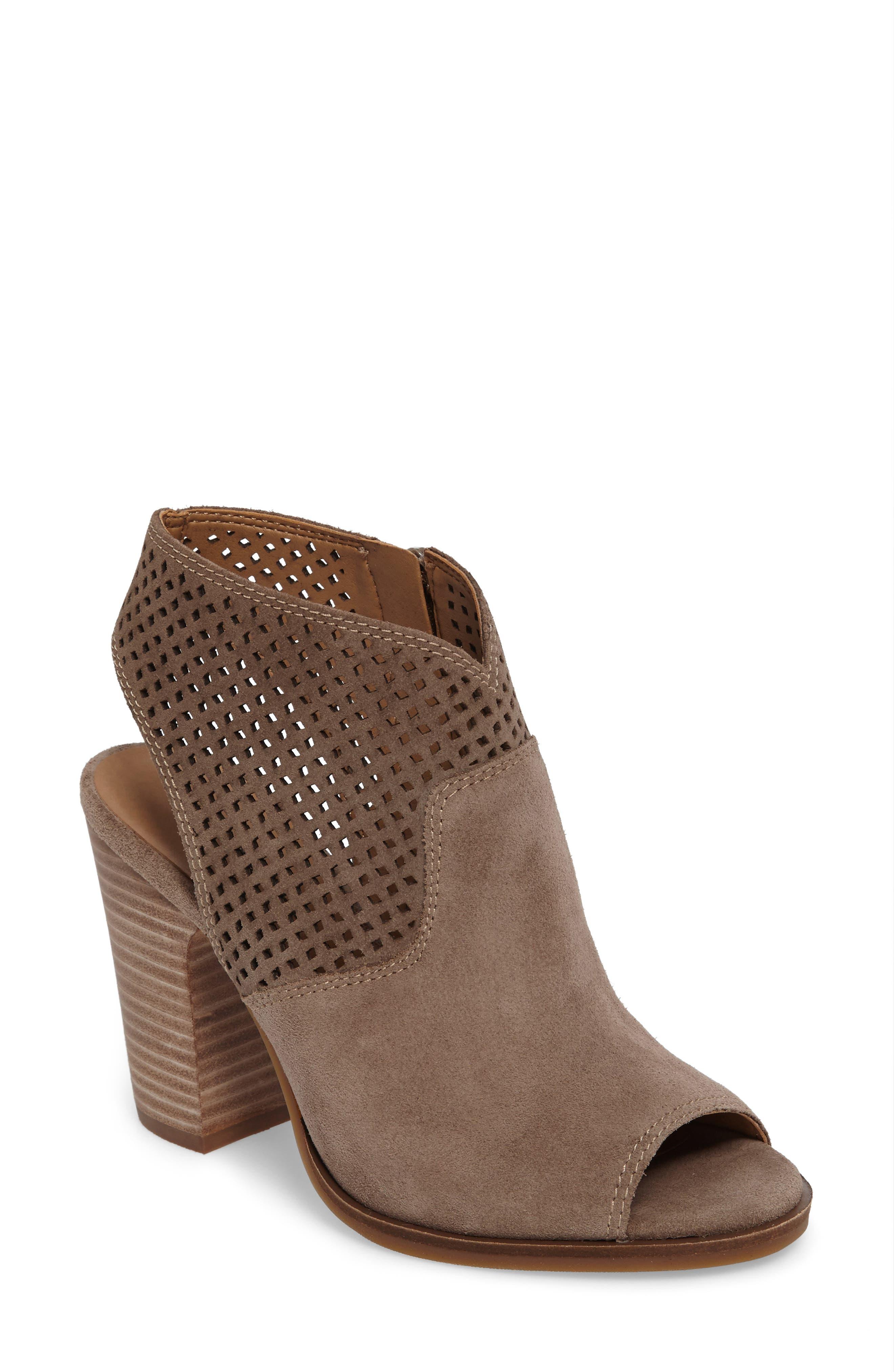 Alternate Image 1 Selected - Lucky Brand Lizara Perforated Block Heel Sandal (Women)