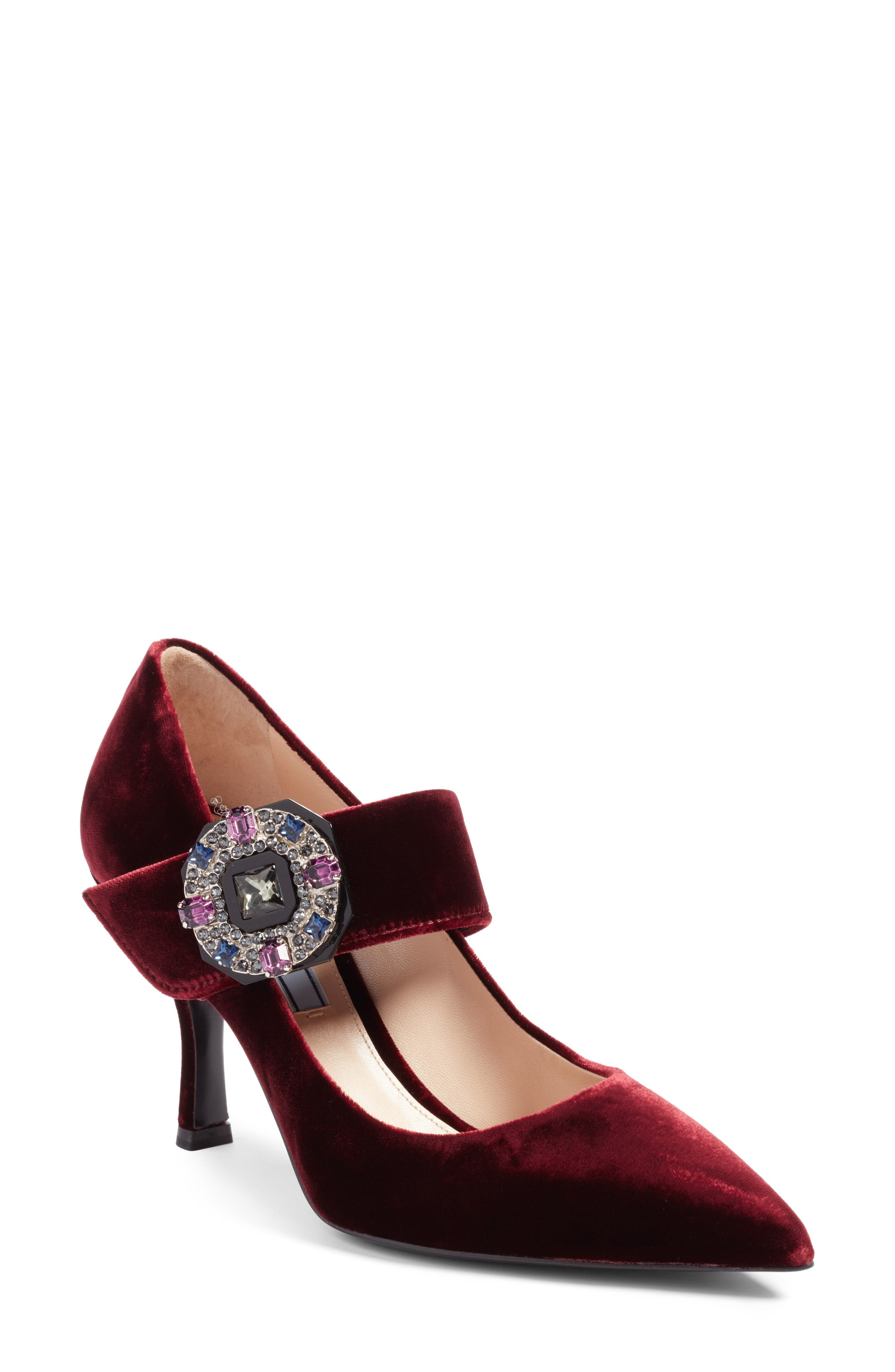 Prada Embellished Mary Jane Strap Pump (Women)