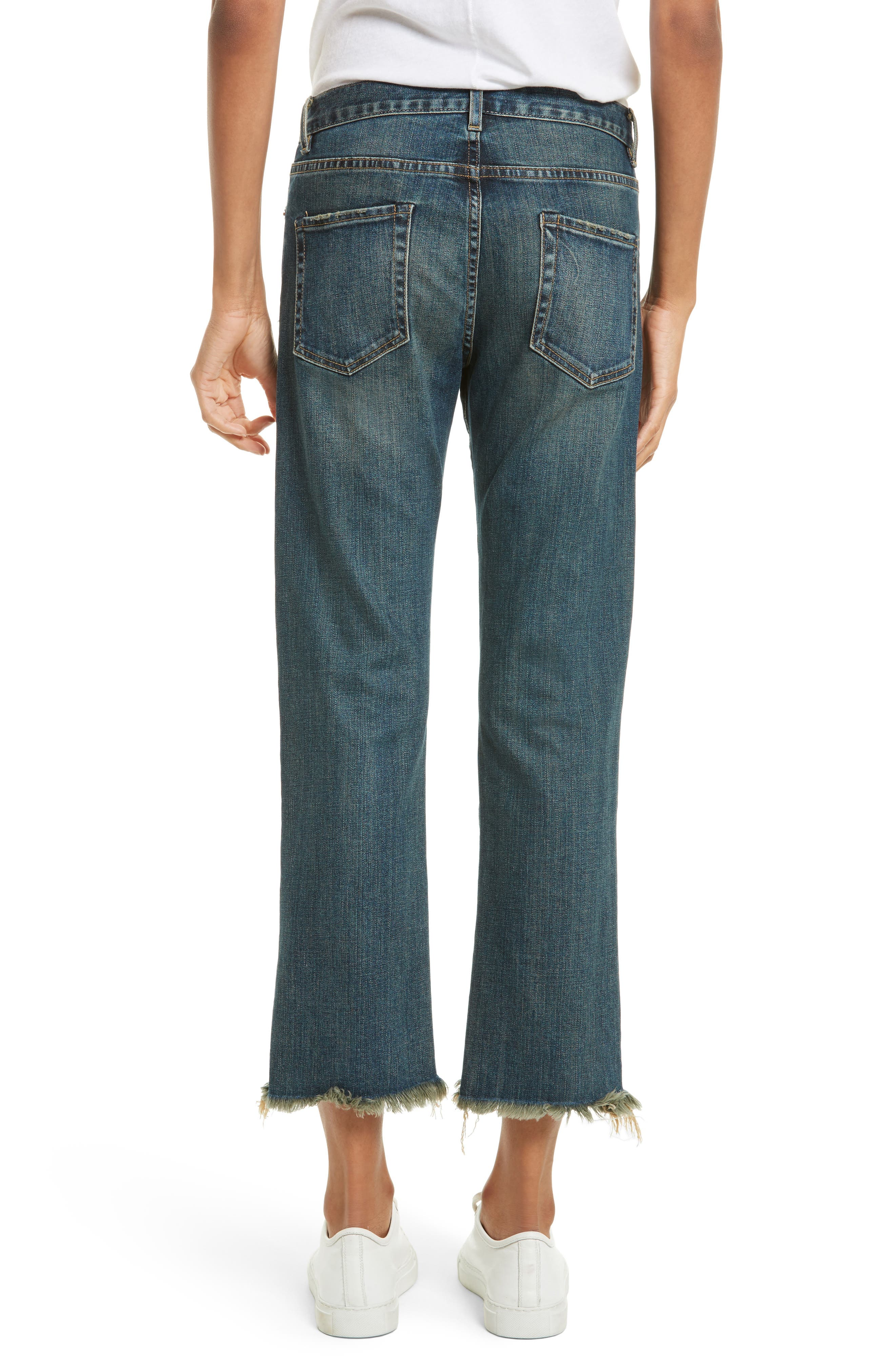 Alternate Image 2  - Nili Lotan Raw Edge Crop Boyfriend Jeans (Walker)