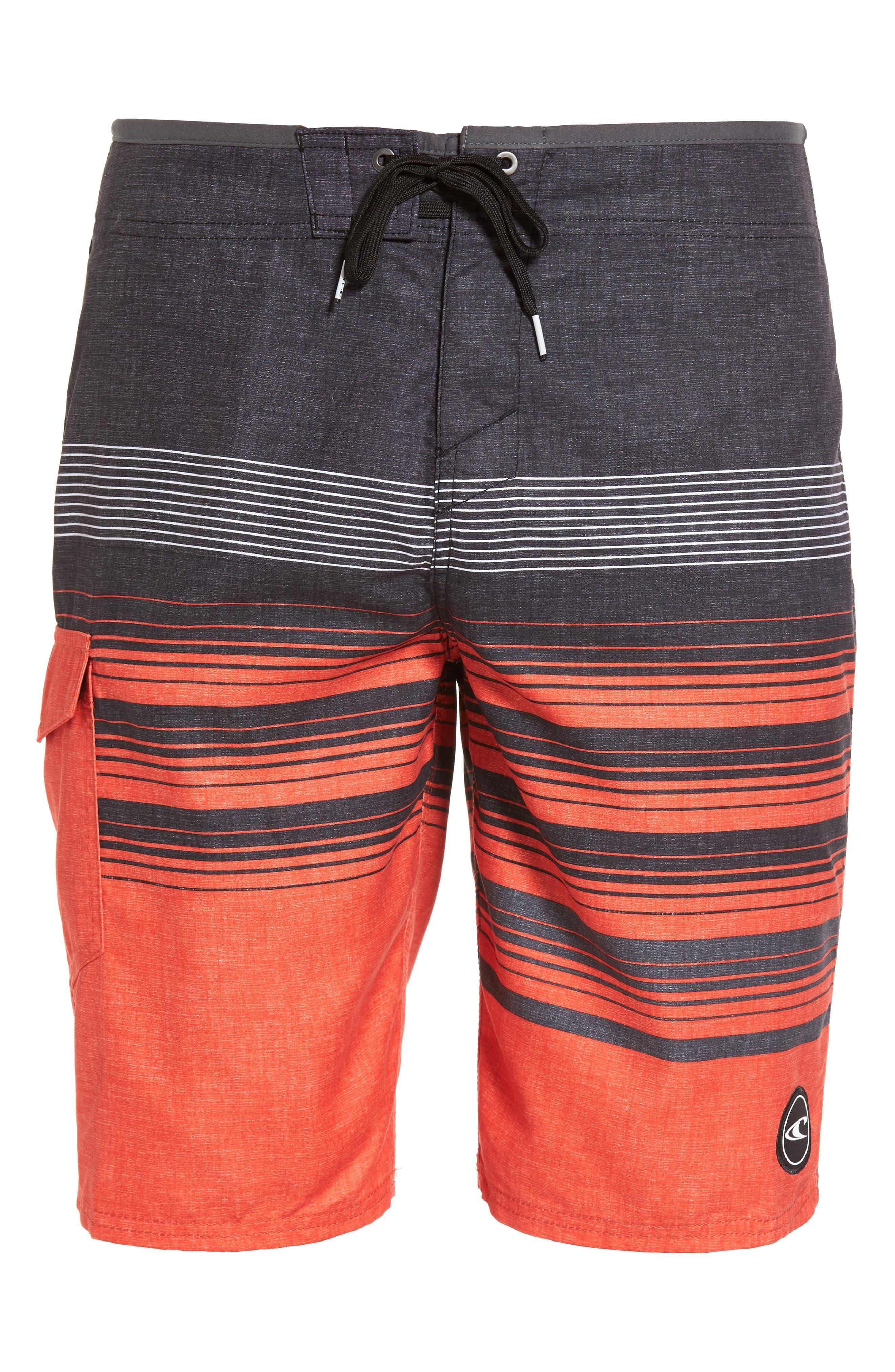 Lennox Board Shorts,                             Alternate thumbnail 6, color,                             Neon Red