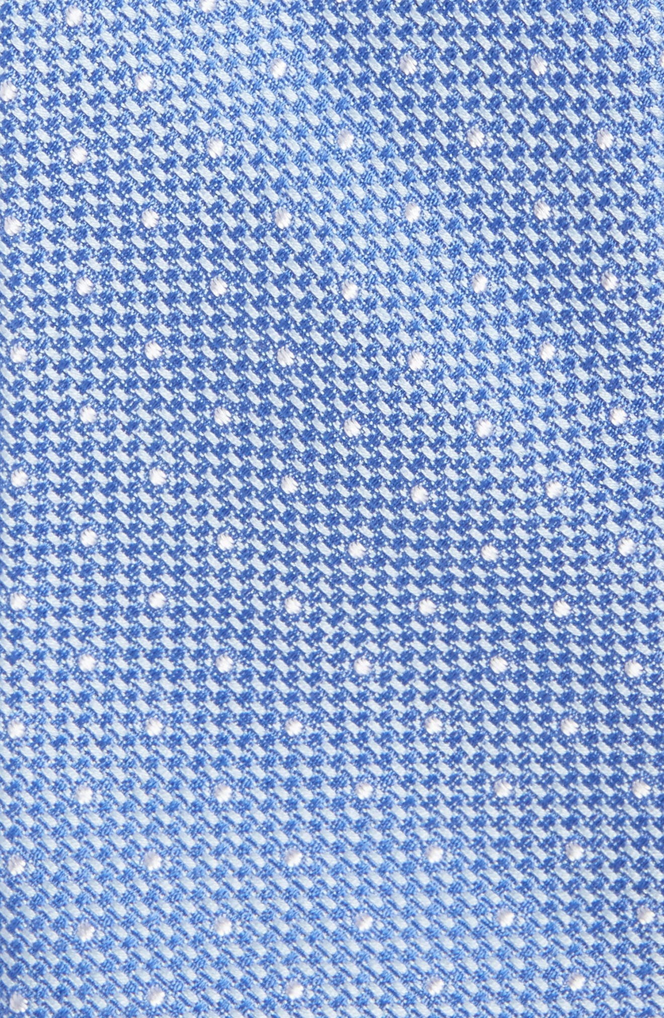 Dot Cotton & Silk Tie,                             Alternate thumbnail 2, color,                             Light Blue