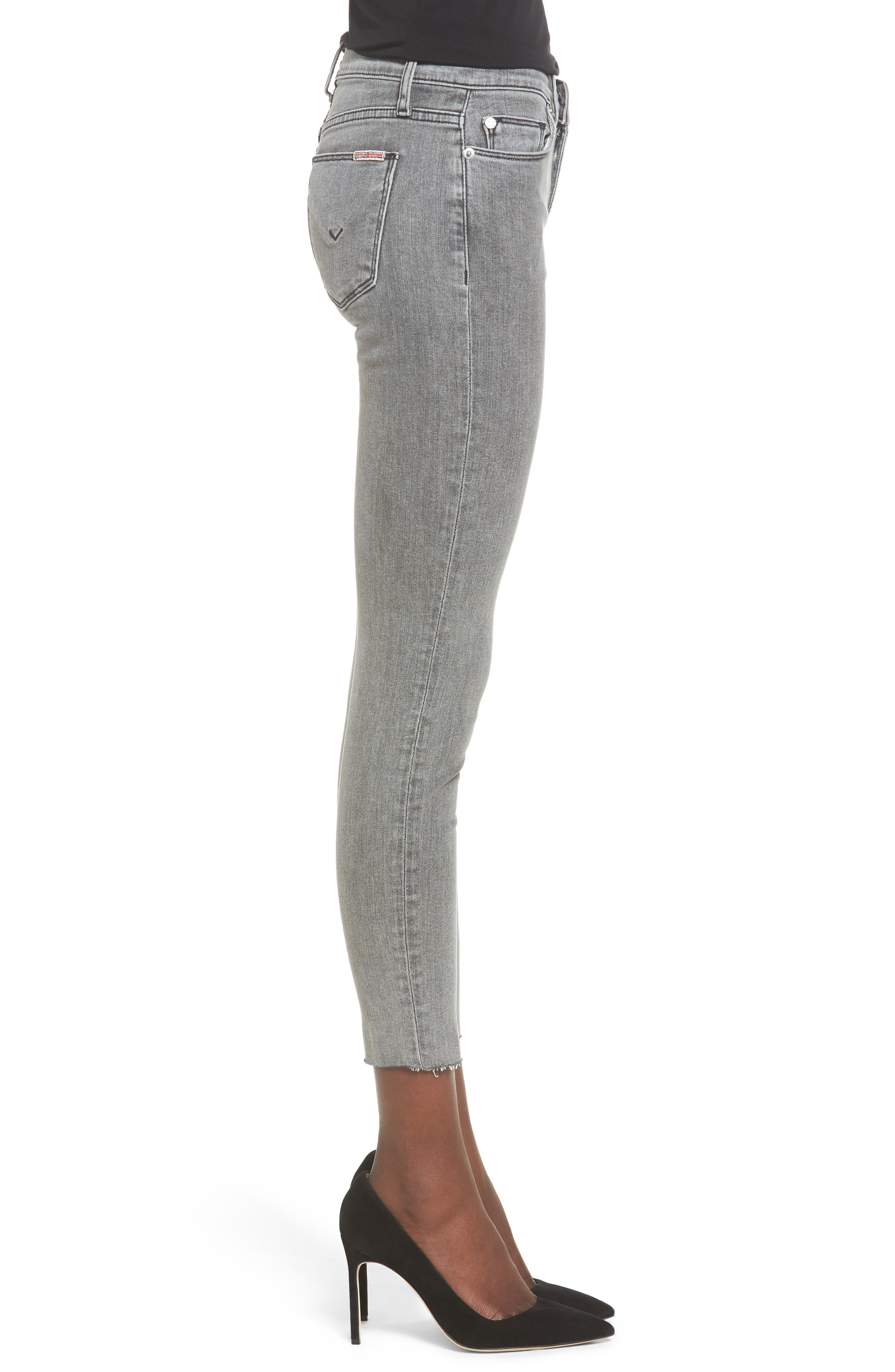 Hudson Nico Ankle Super Skinny Jeans,                             Alternate thumbnail 3, color,                             Glossier