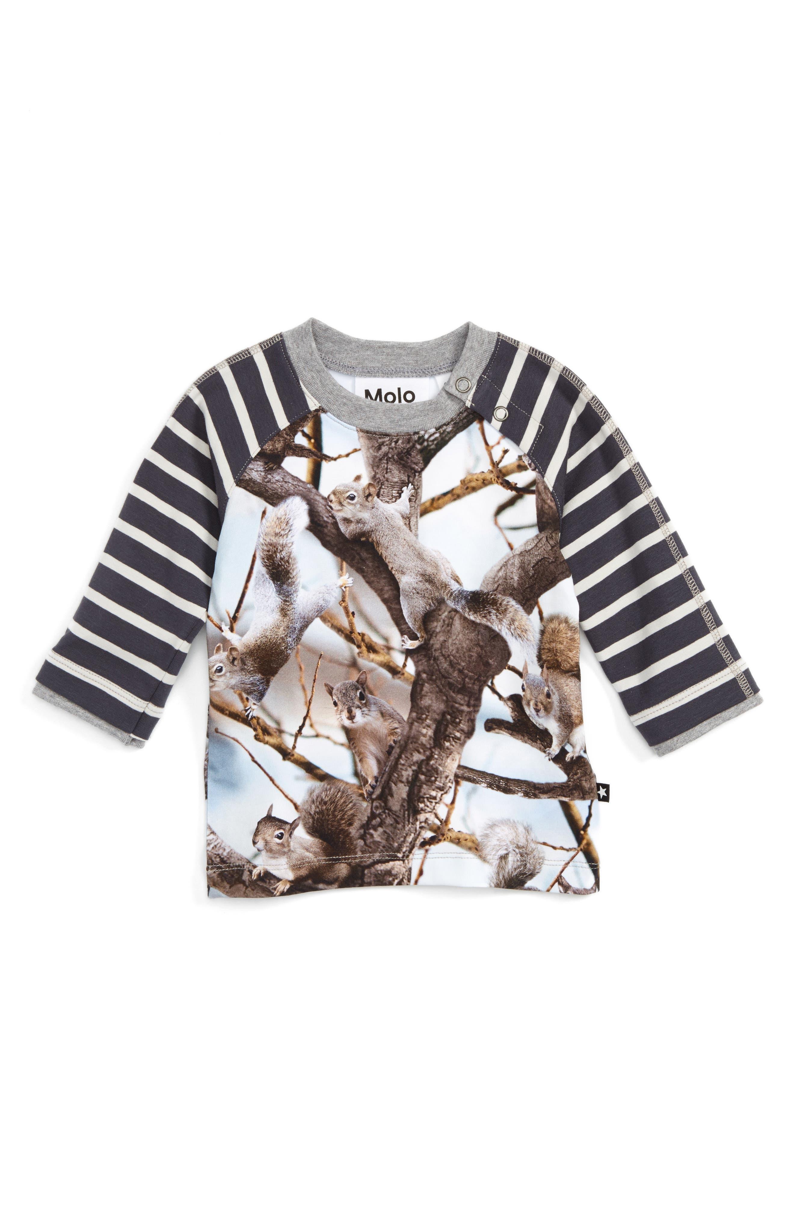 Main Image - Molo Elton Mixed Print Raglan Sleeve T-Shirt (Baby Boys)
