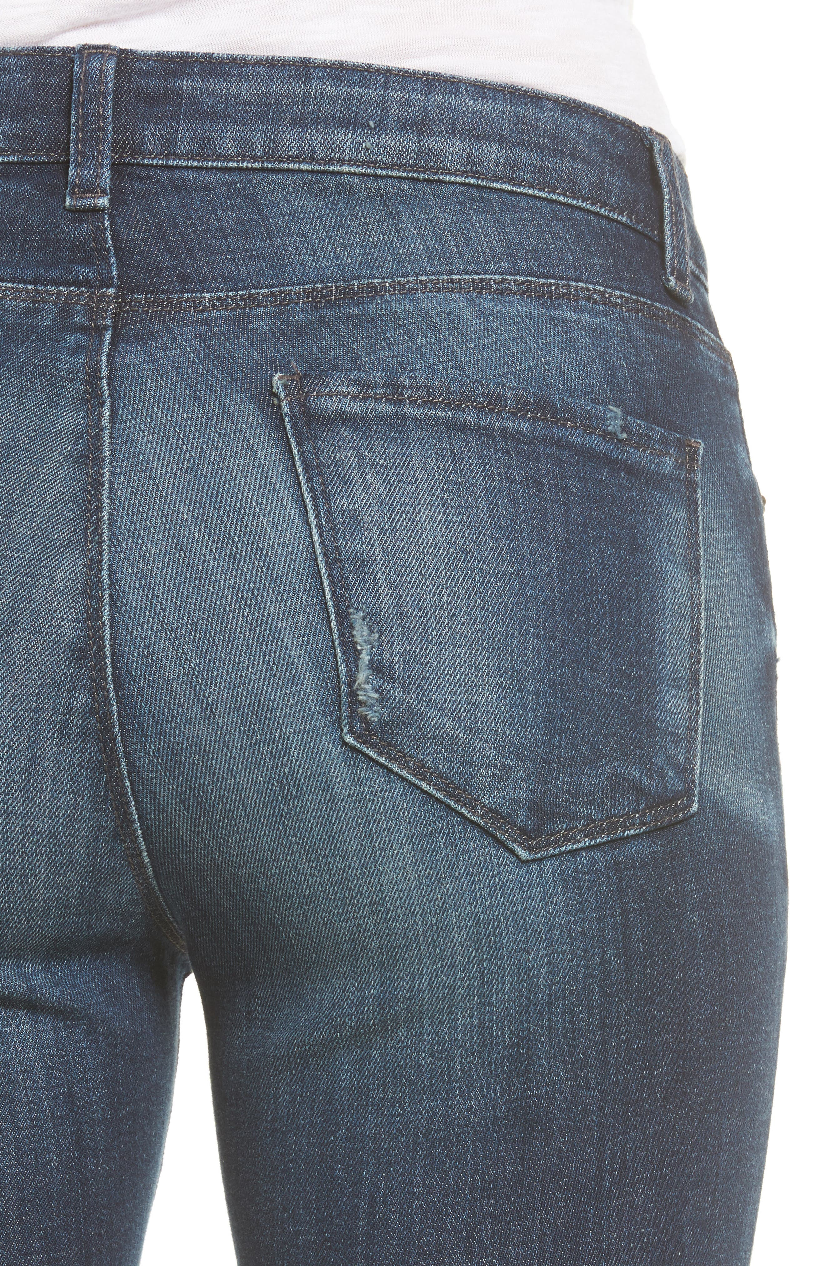 Alternate Image 4  - KUT from the Kloth Reese Release Hem Ankle Jeans (Prevailing)