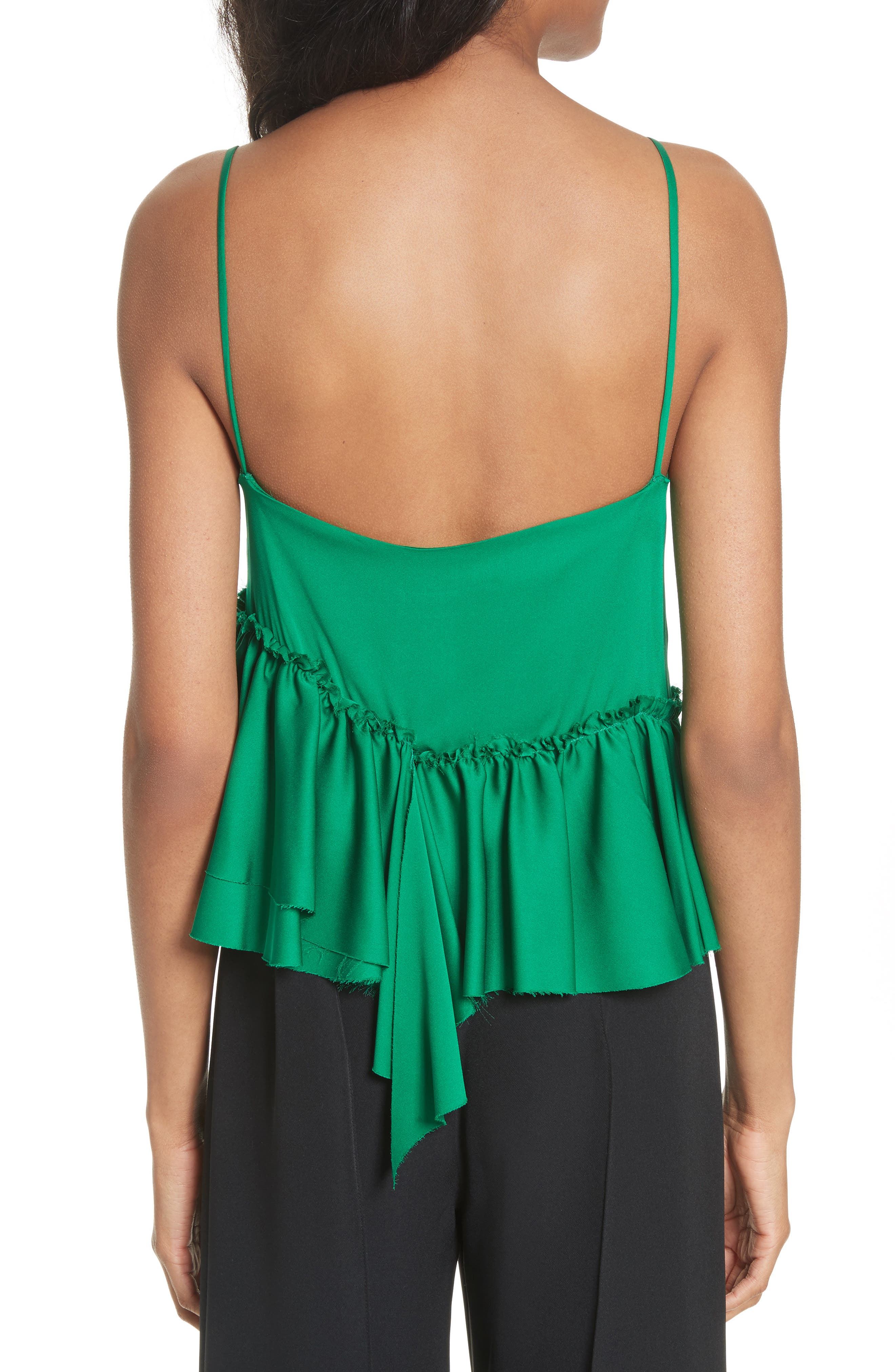 Alternate Image 2  - Milly Tiered Stretch Silk Camisole