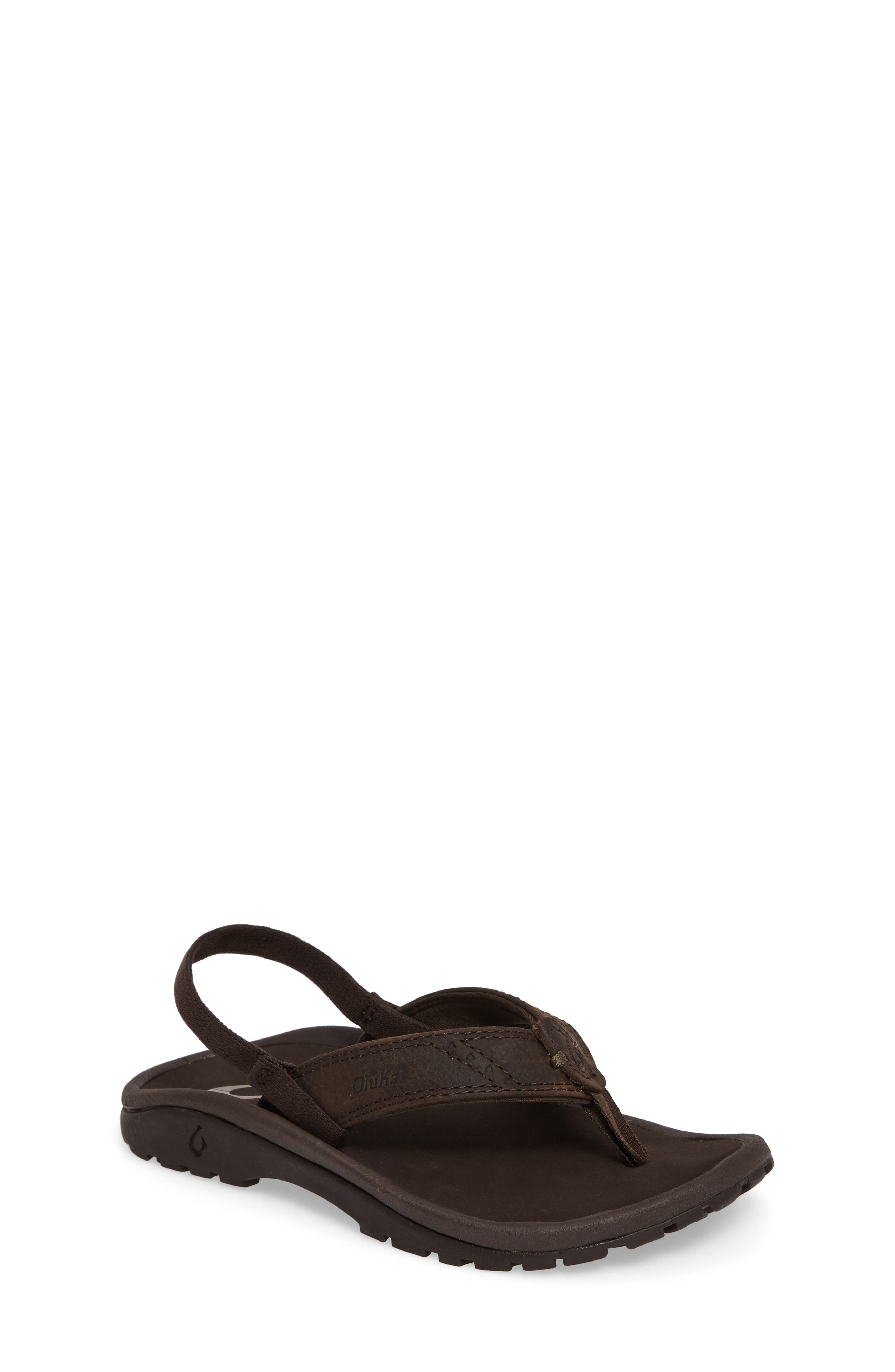 OluKai Nui Leather Sandal (Toddler)
