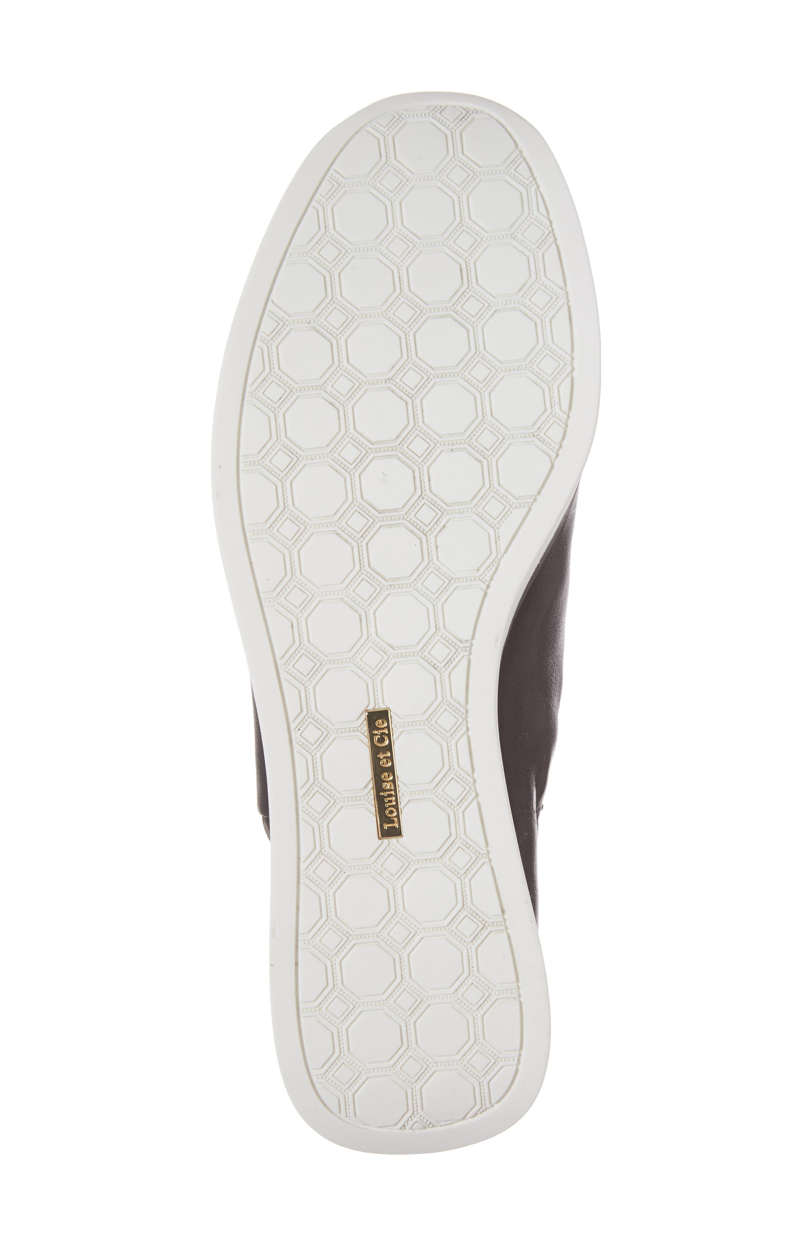 Brogen Slip-On Sneaker,                             Alternate thumbnail 6, color,                             Black Leather