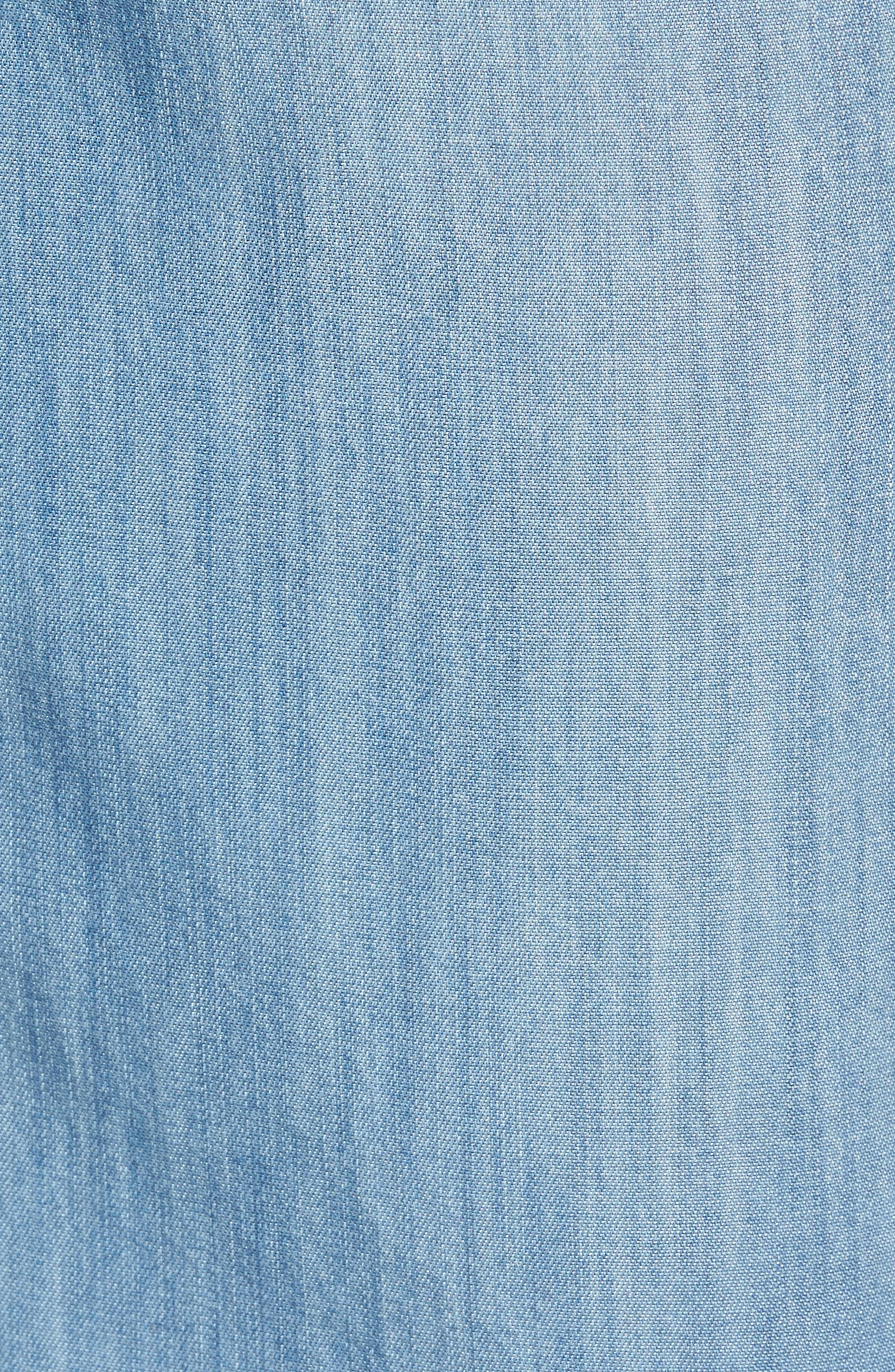 Drawstring Wide Leg Pants,                             Alternate thumbnail 5, color,                             Medium Blue