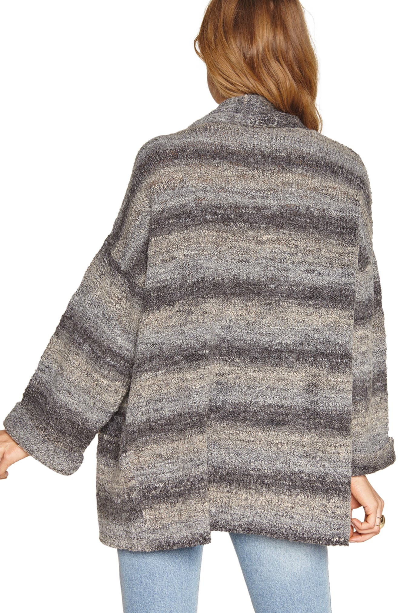 Beckett Stripe Sweater,                             Alternate thumbnail 3, color,                             Grey Mist