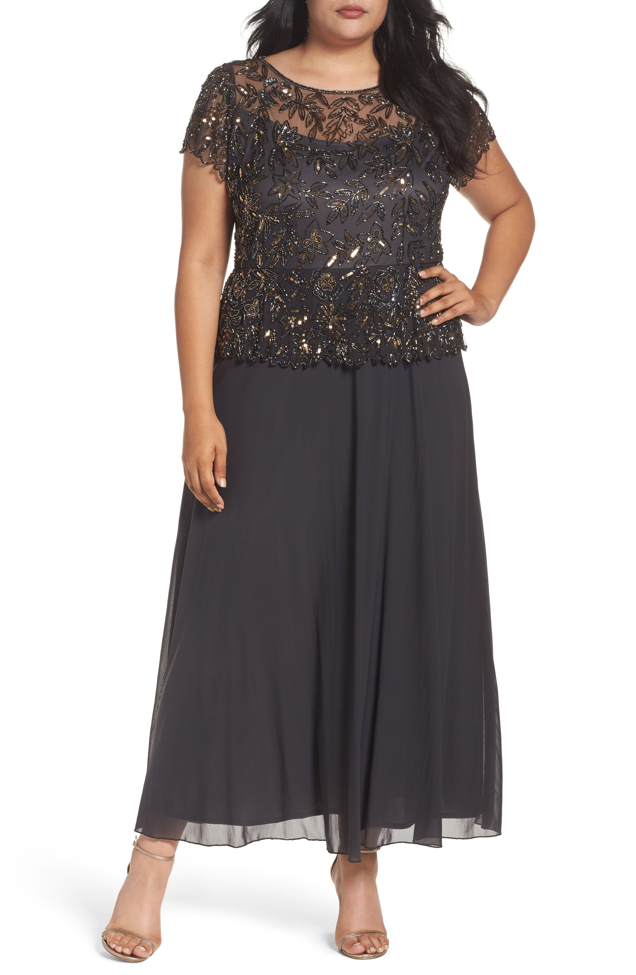 PISARRO NIGHTS Mock 2-Pc. A-Line Gown