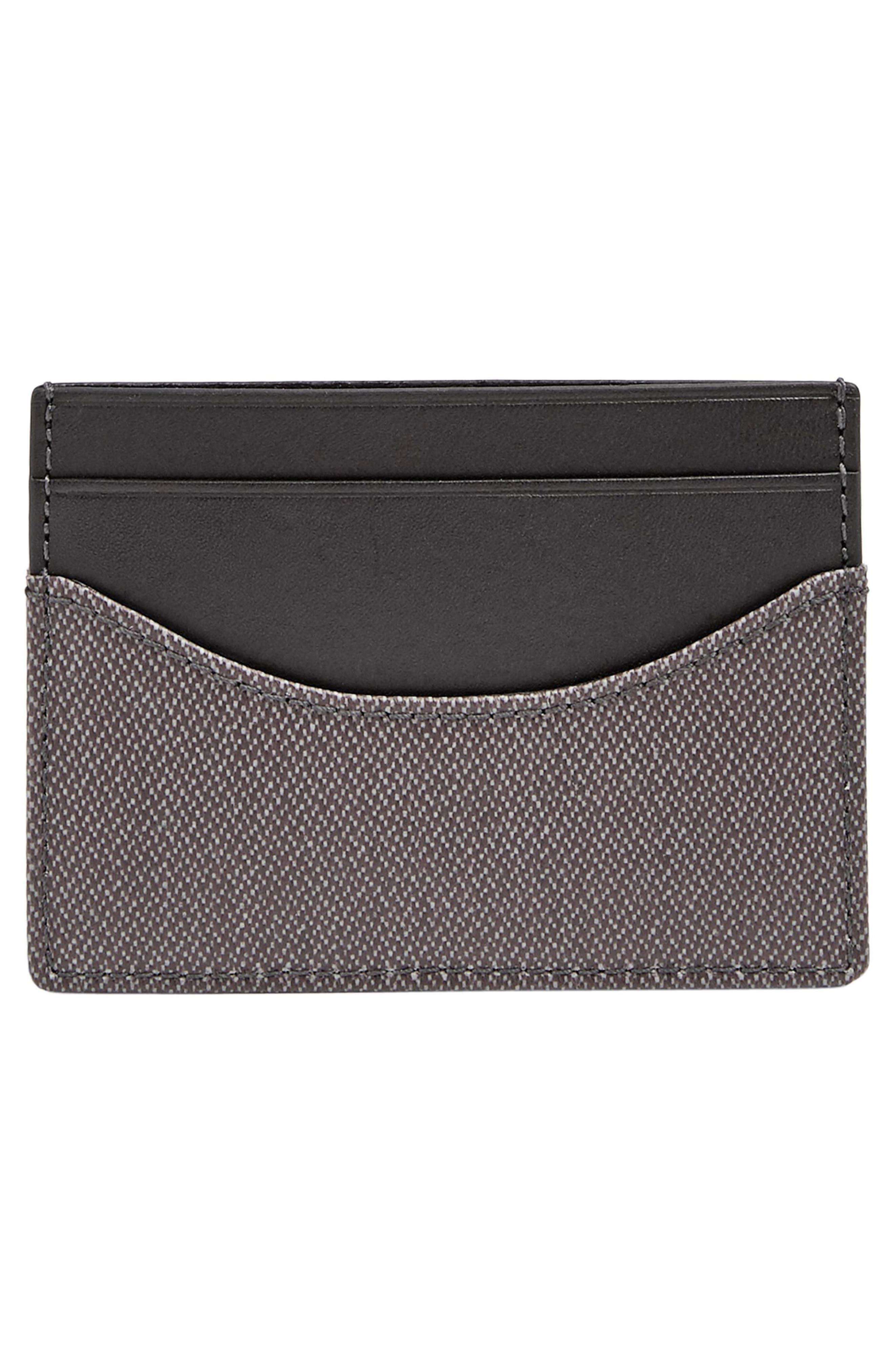 Coated Twill Card Case,                             Alternate thumbnail 3, color,                             Pewter