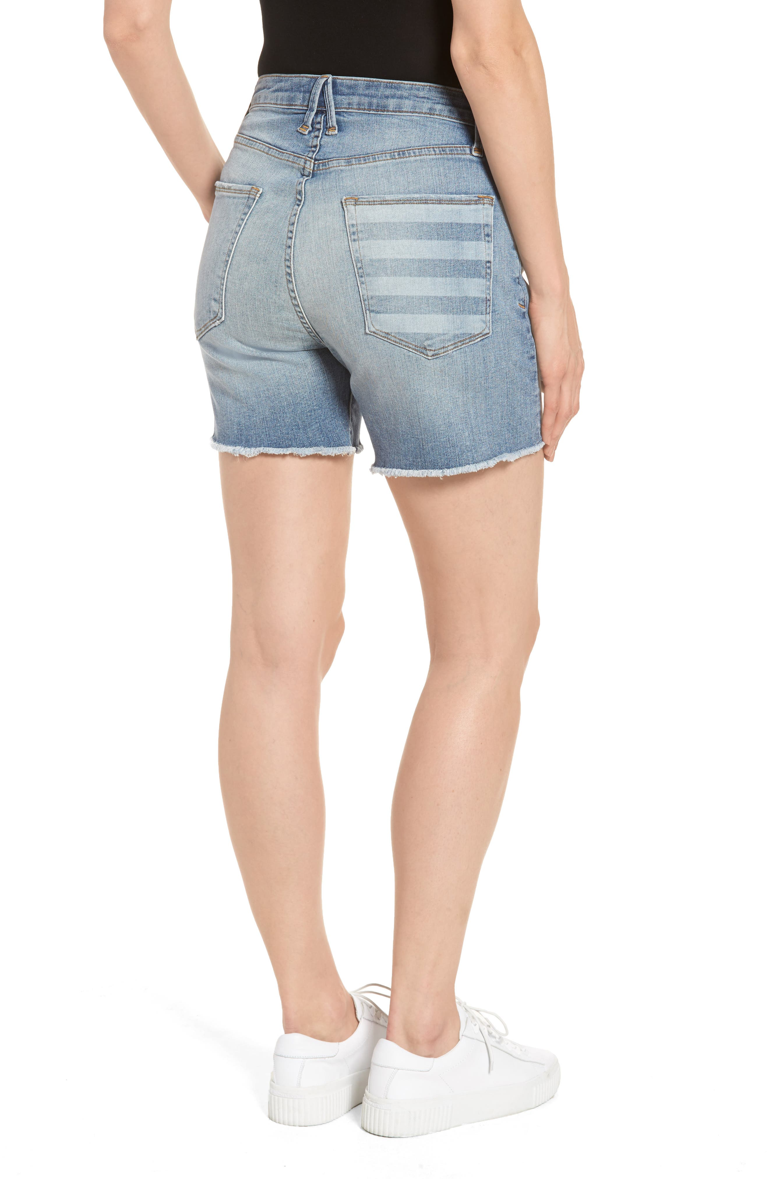 Alternate Image 2  - Good American High Waist Denim Cutoff Shorts (Extended Sizes)