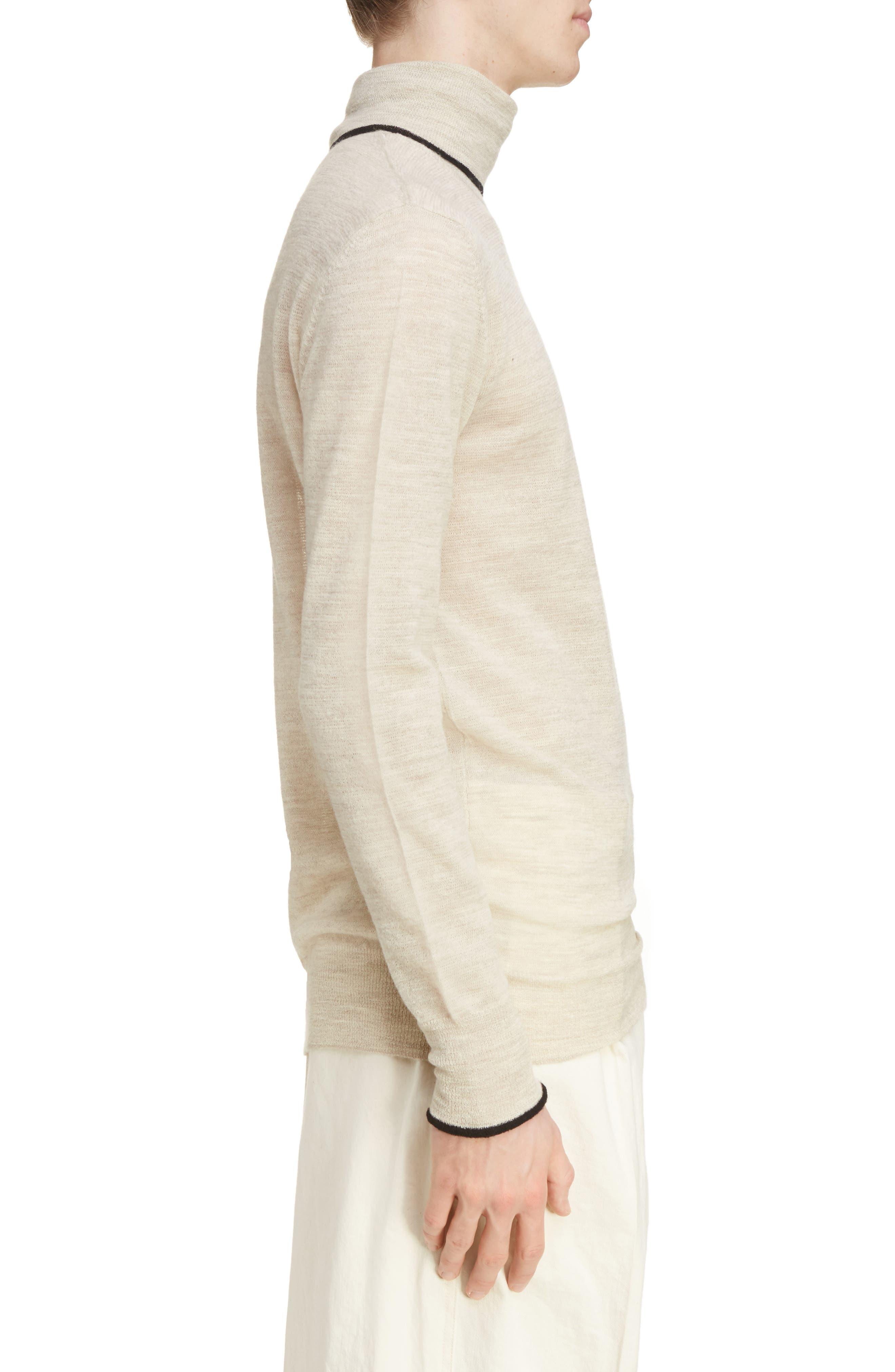 Alternate Image 3  - Lanvin Contrast Tipped Wool Turtleneck