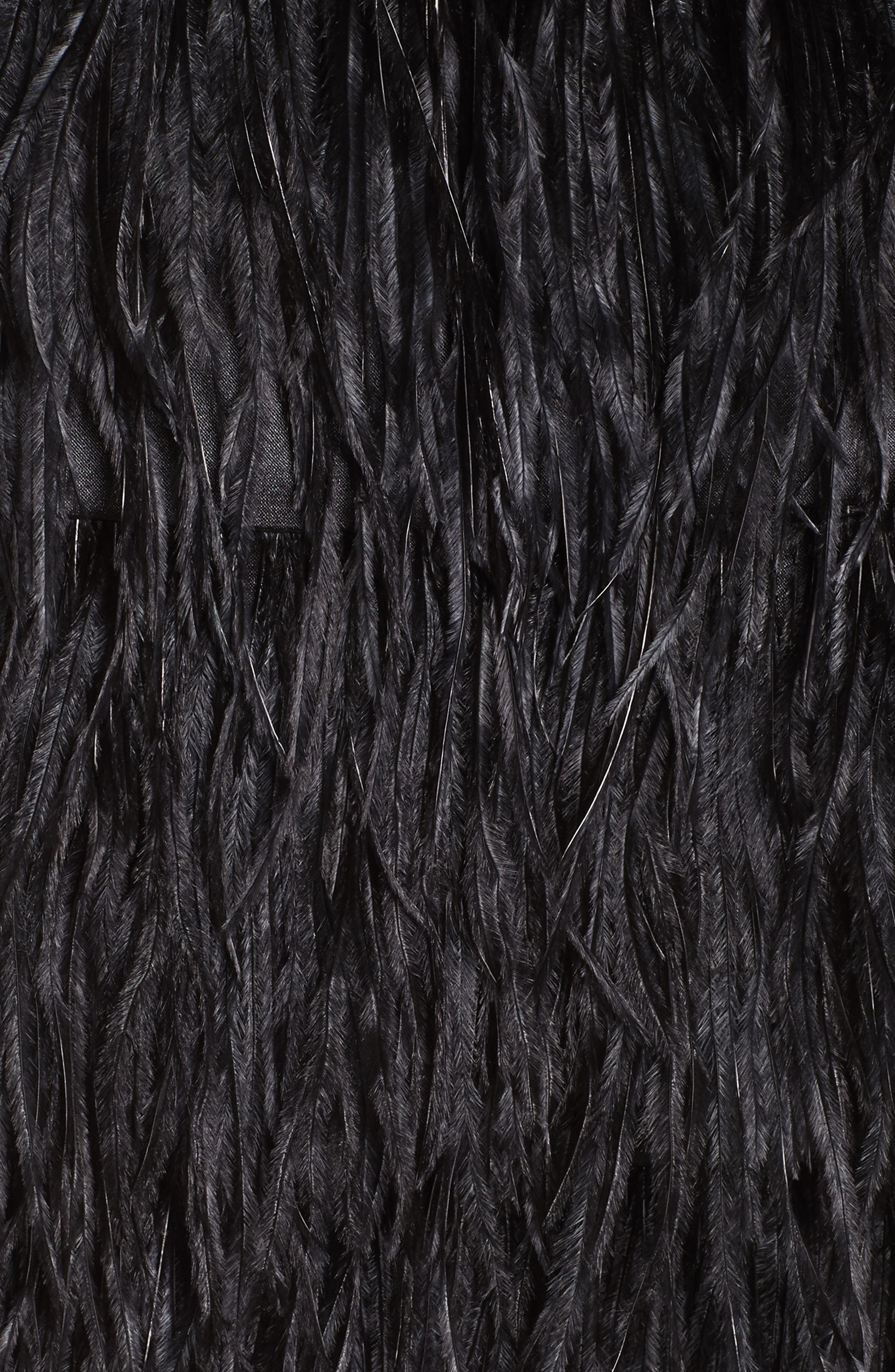 Feather Miniskirt,                             Alternate thumbnail 6, color,                             Black