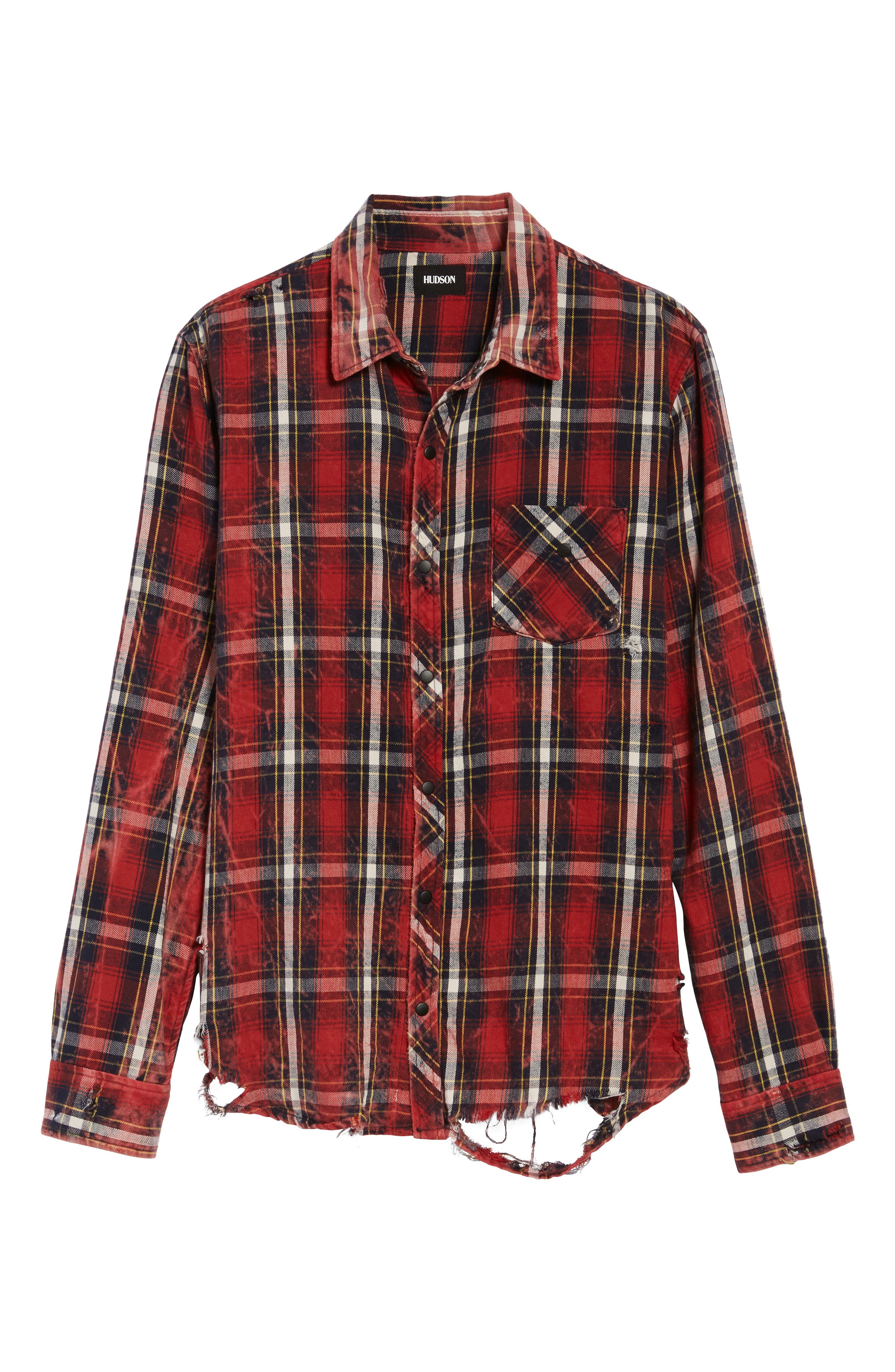 Slim Fit Plaid Sport Shirt,                             Alternate thumbnail 5, color,                             Instigate