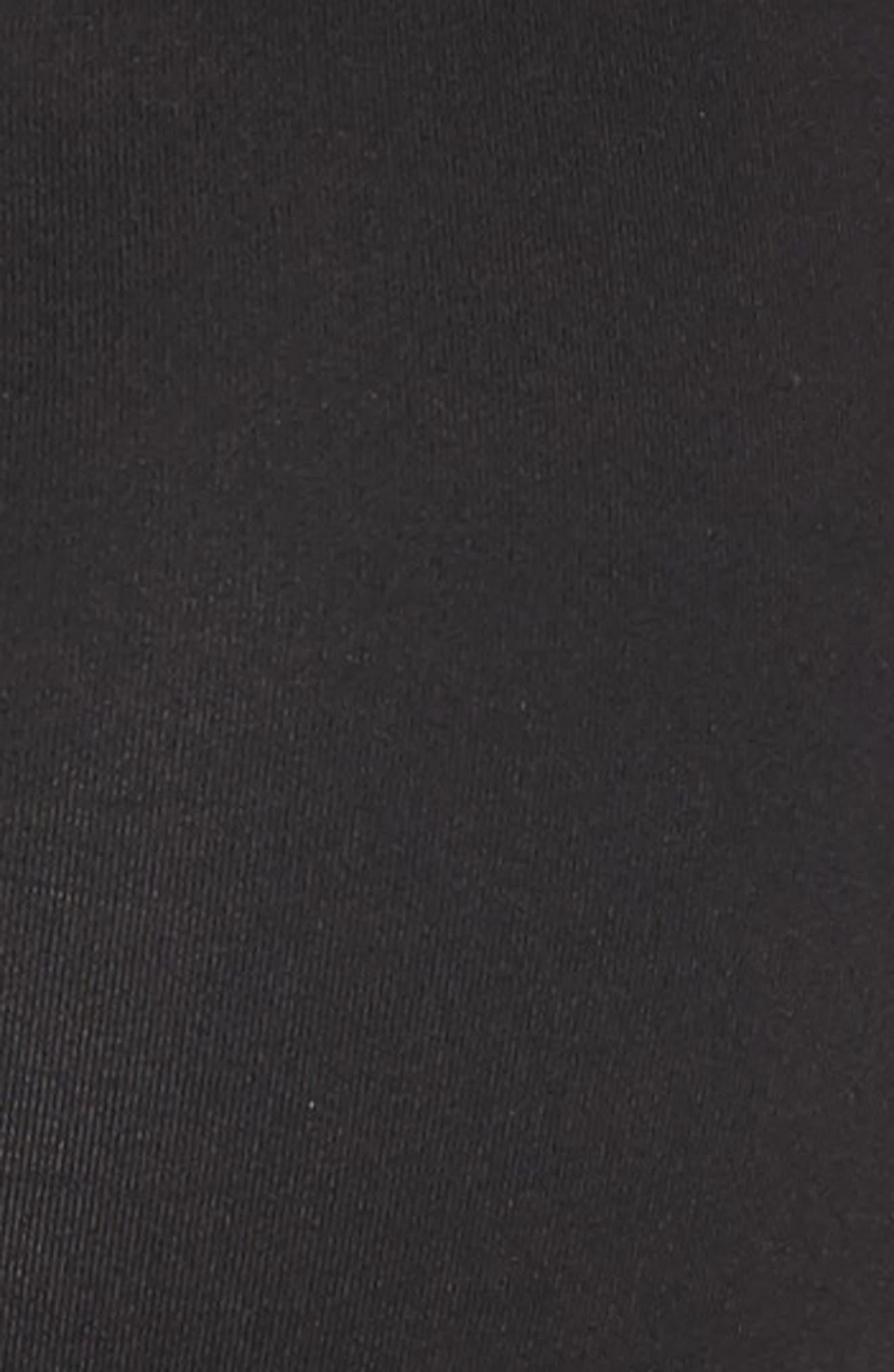 Mesh Inset Sports Bra,                             Alternate thumbnail 6, color,                             Black