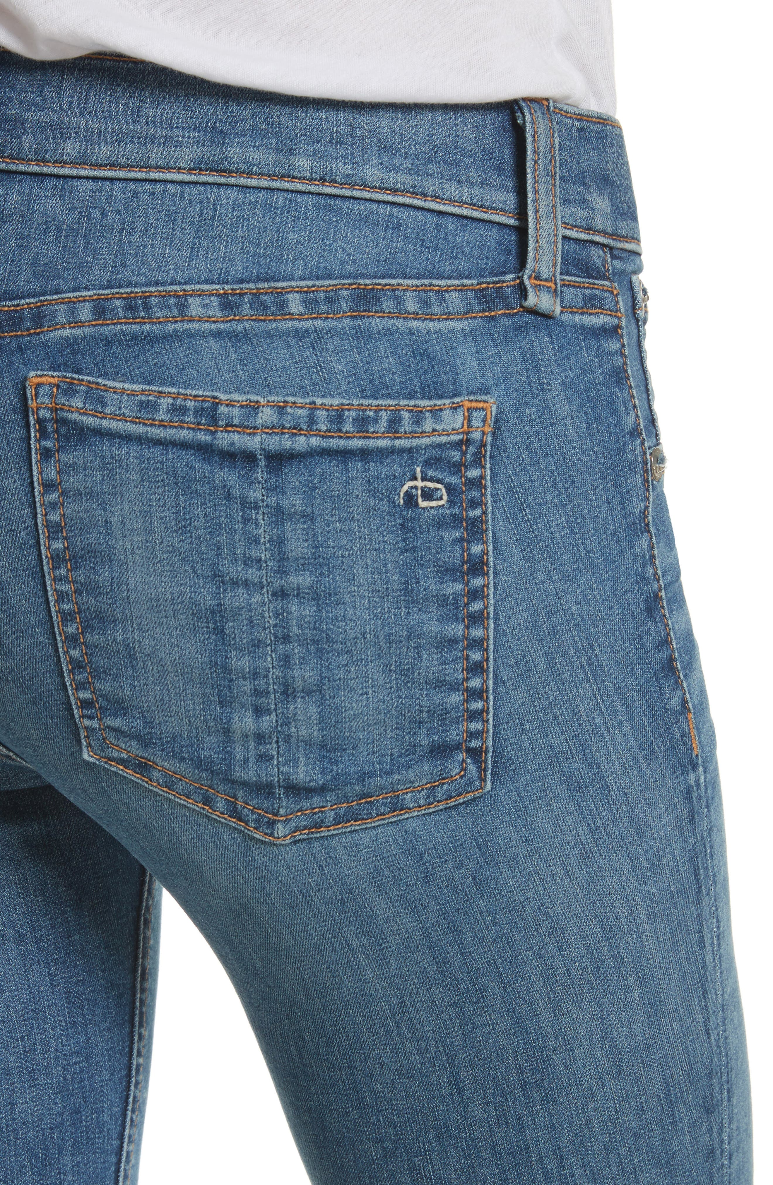 Alternate Image 5  - rag & bone/JEAN Skinny Jeans (Lucky Rouge)