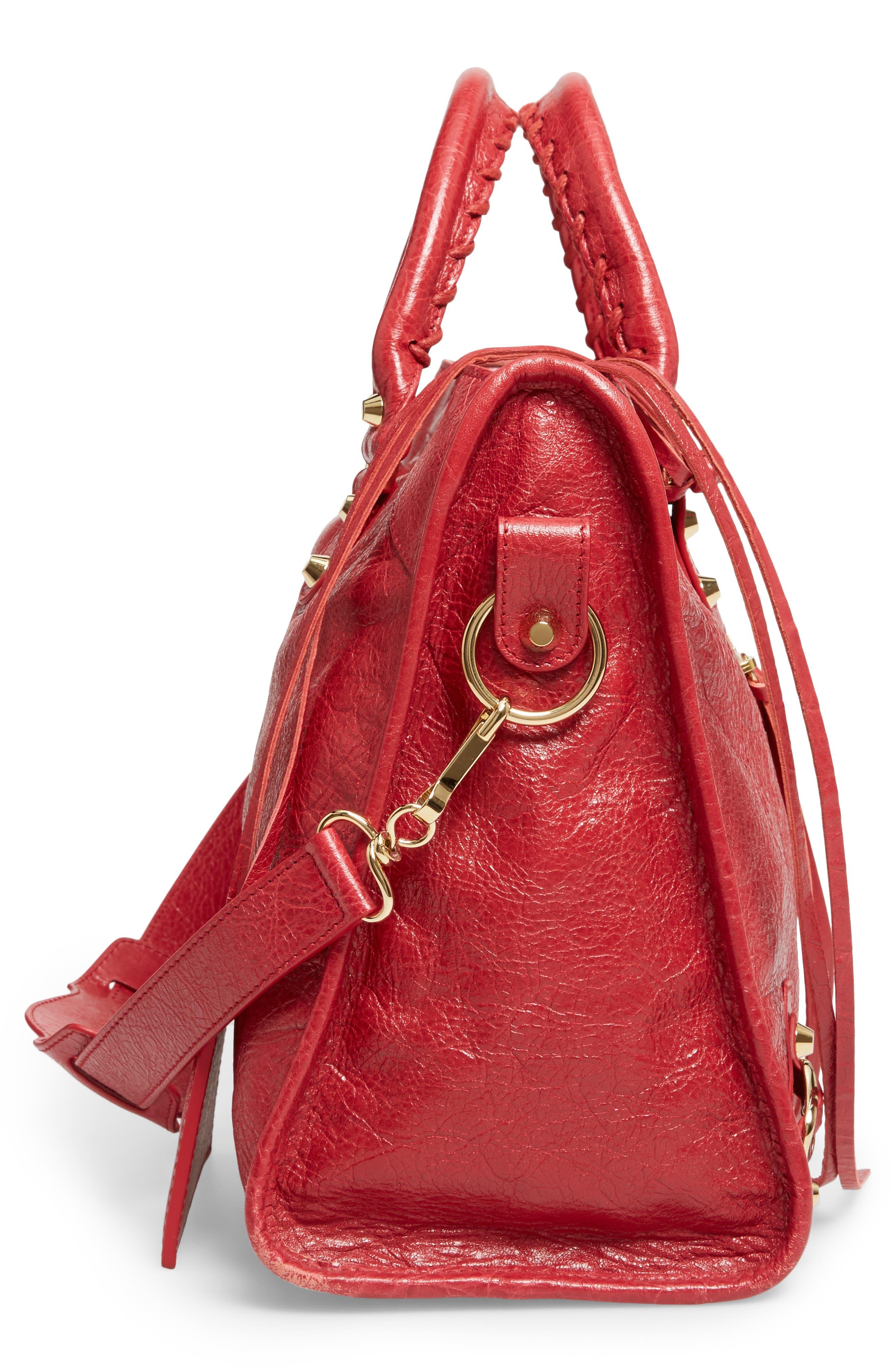 Classic City Bag,                             Alternate thumbnail 5, color,                             6270 Rouge Saffron/Dk Sang